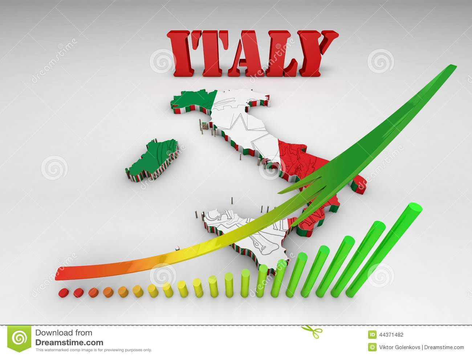 Programma dell Italia con la bandierina