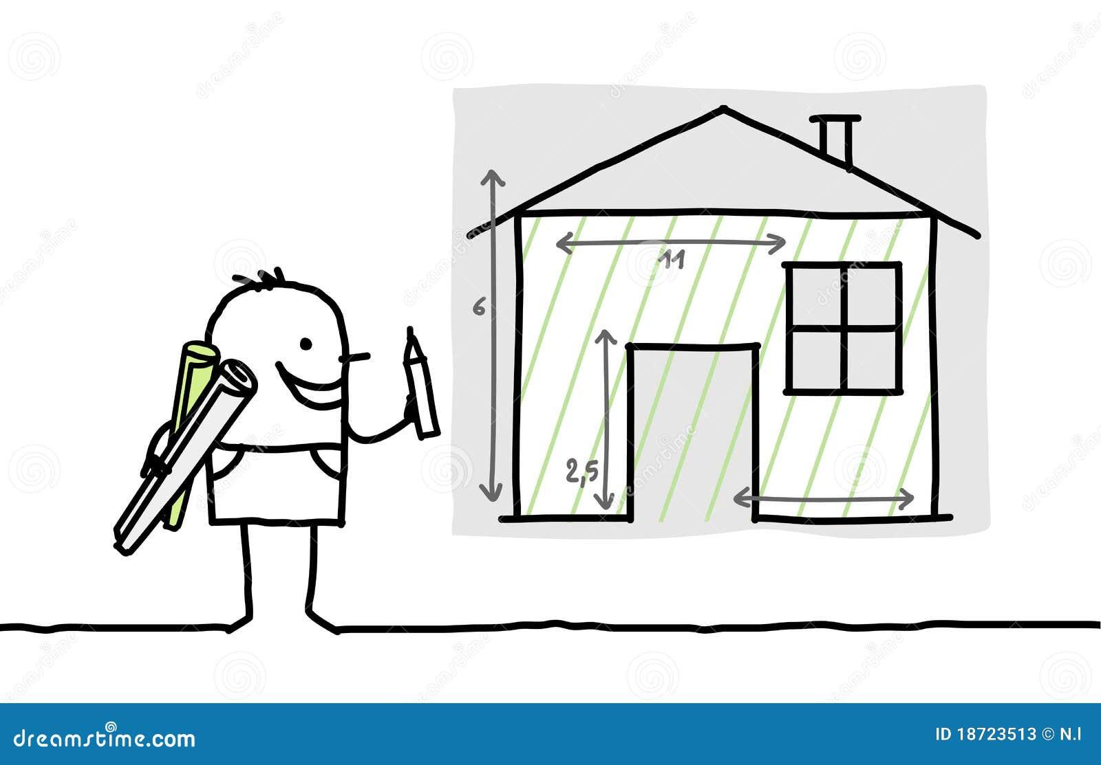 Programma della casa dell 39 illustrazione dell 39 uomo for Programma di disegno della casa libera