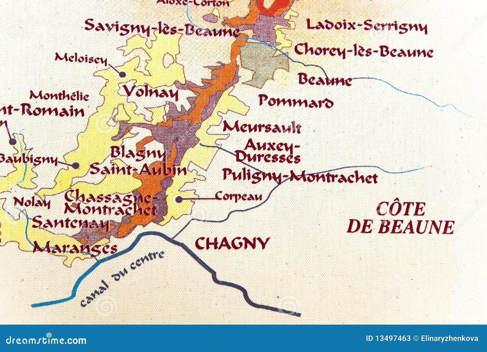 Programma della regione della borgogna immagine stock for Programma della mappa della casa