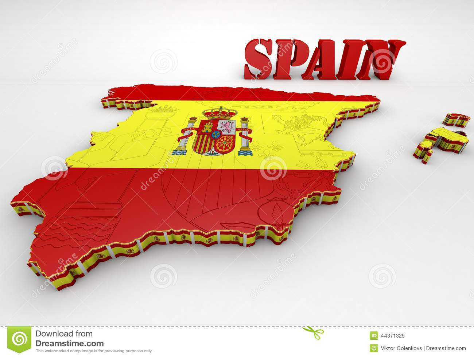 Programma della Spagna con la bandierina