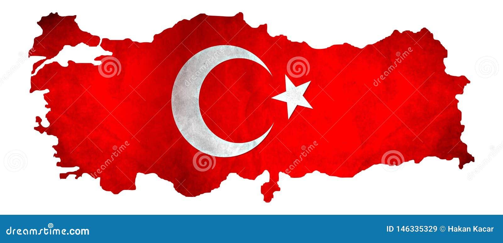 Programma della Turchia con la bandierina