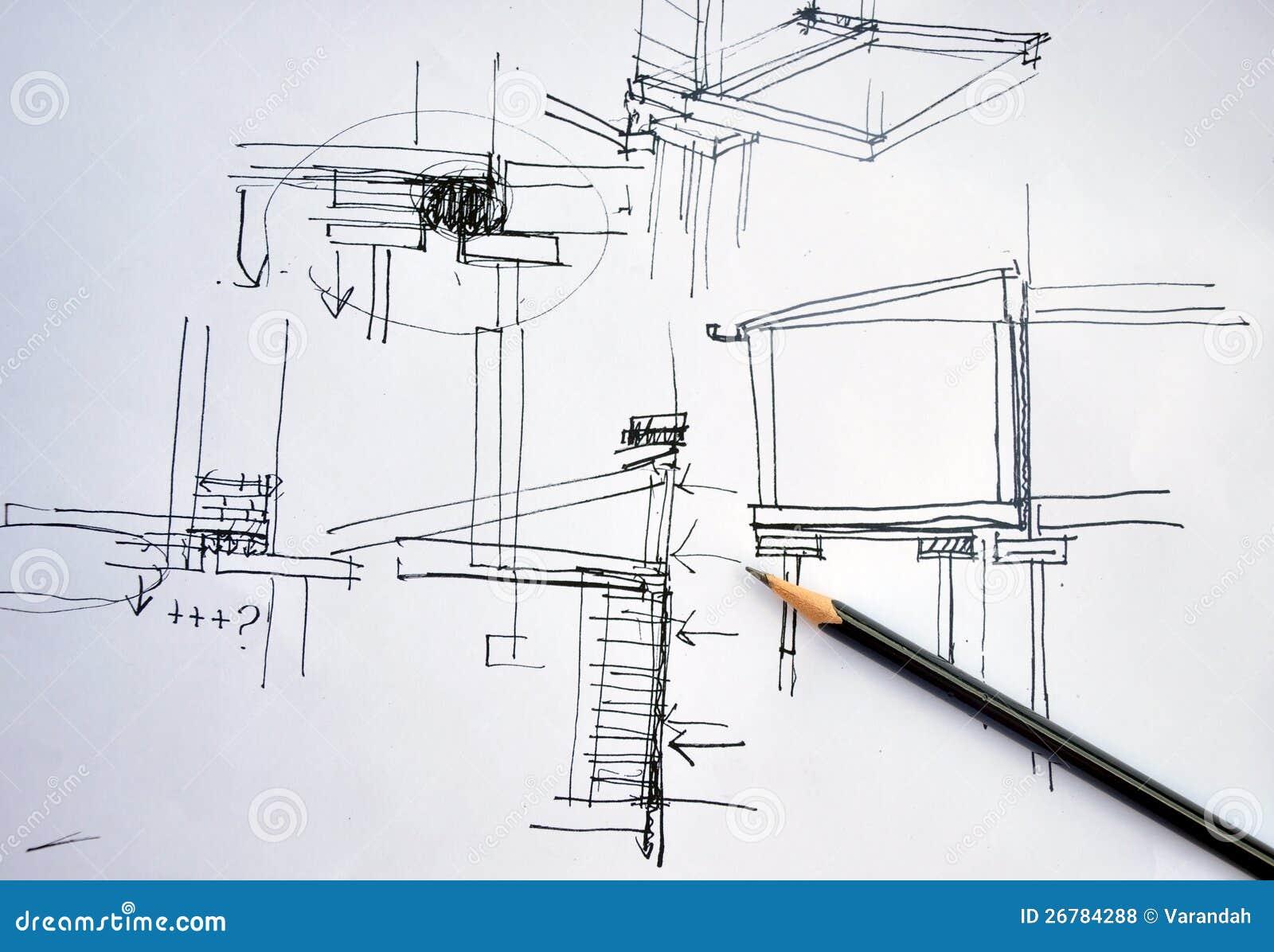 Programma di architettura dell 39 illustrazione della mano for Programma architettura gratis