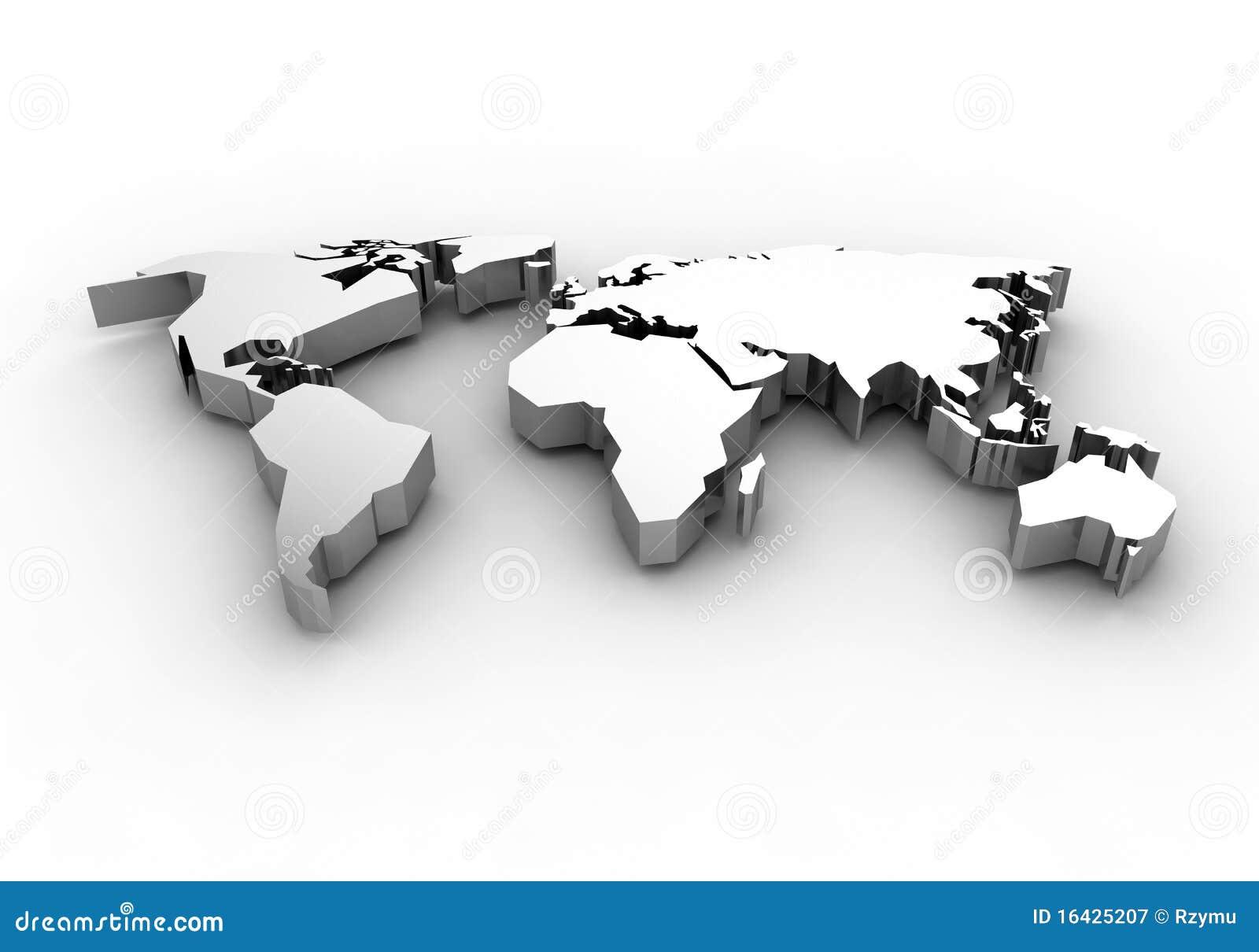 Programma di mondo 3d rendono illustrazione di stock for Programmi rendering gratis