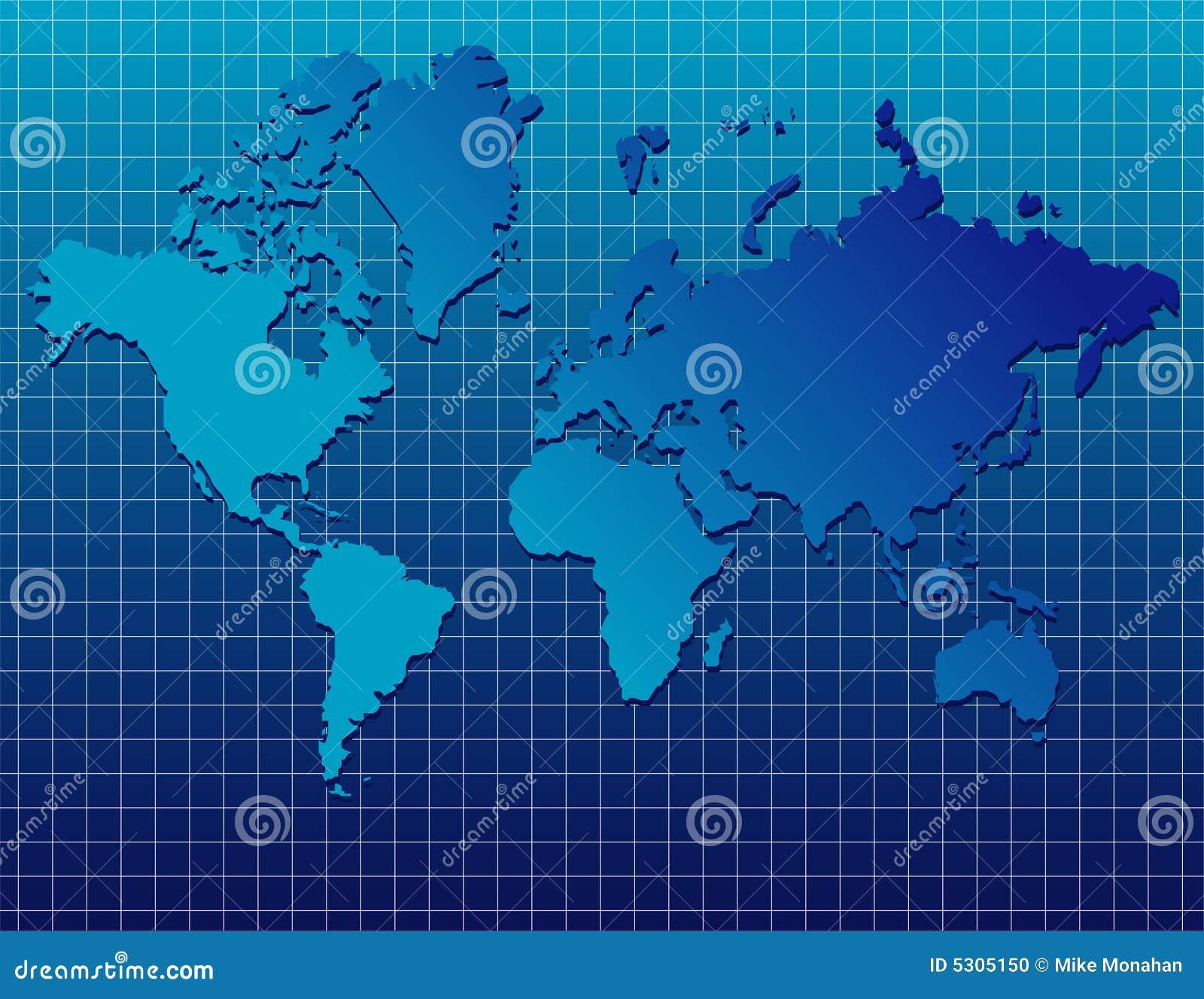 Download Programma di mondo blu illustrazione vettoriale. Illustrazione di globale - 5305150