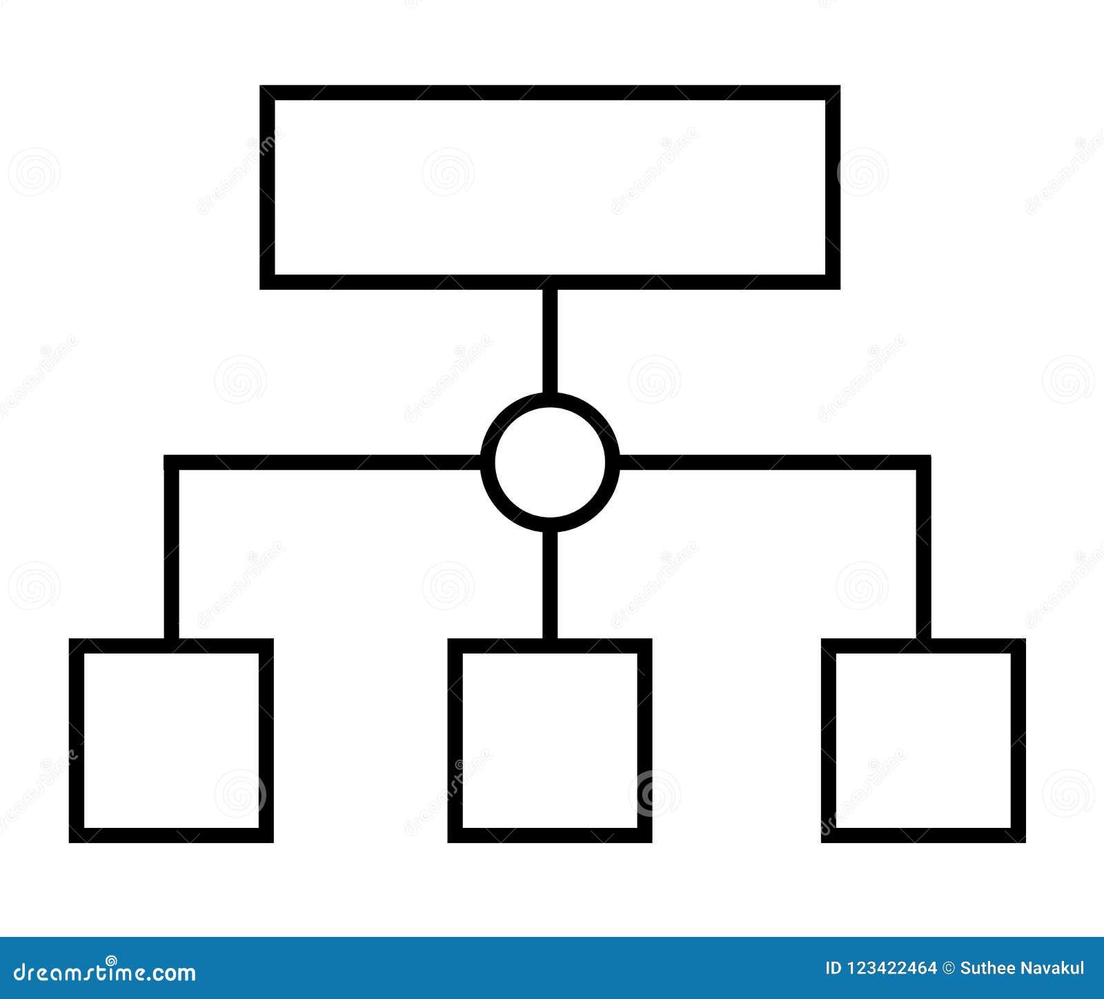 Programma planning of sitemap werkschema dun lijnpictogram vlakke styt