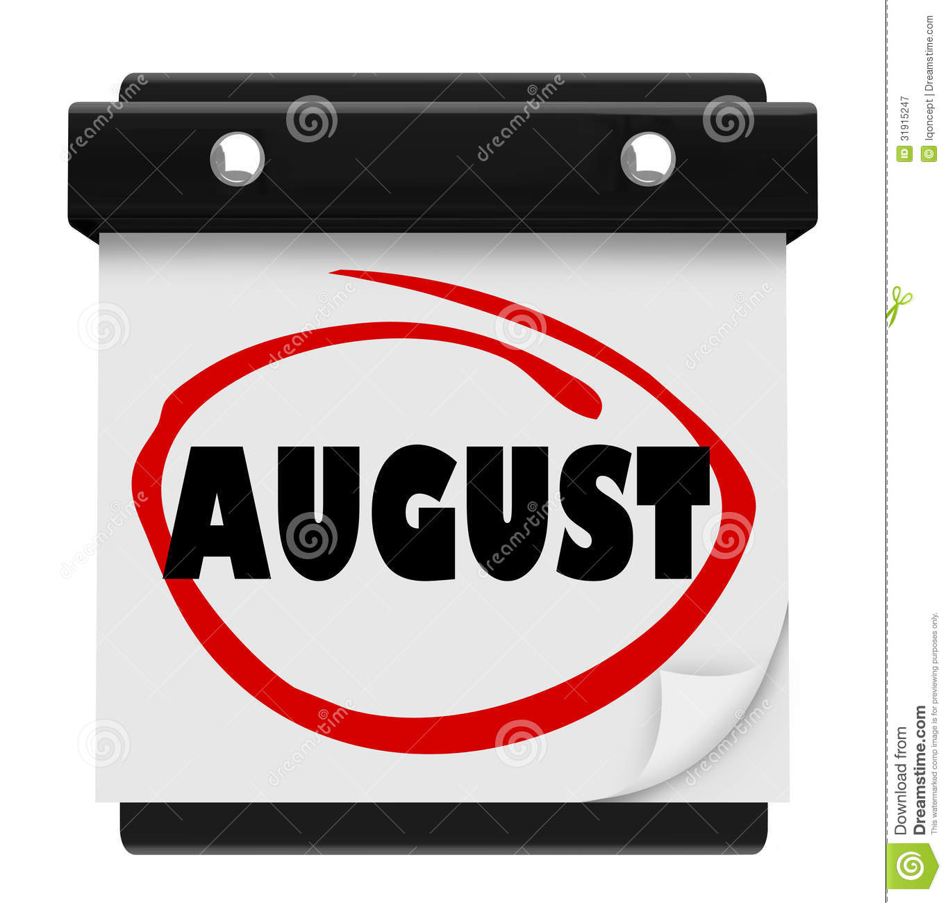 programme de mois d u0026 39 august word wall calendar change photographie stock libre de droits
