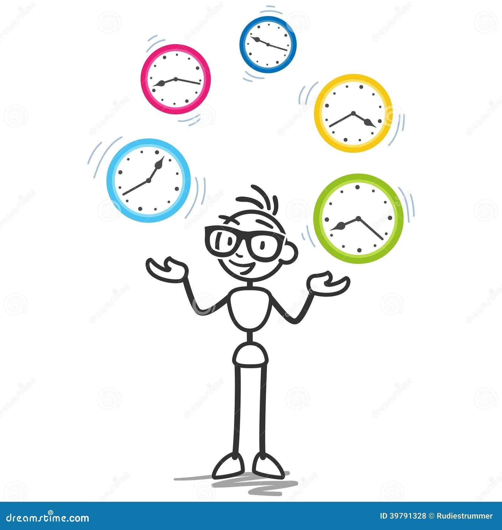 Programme de productivité de gestion du temps de Stickman