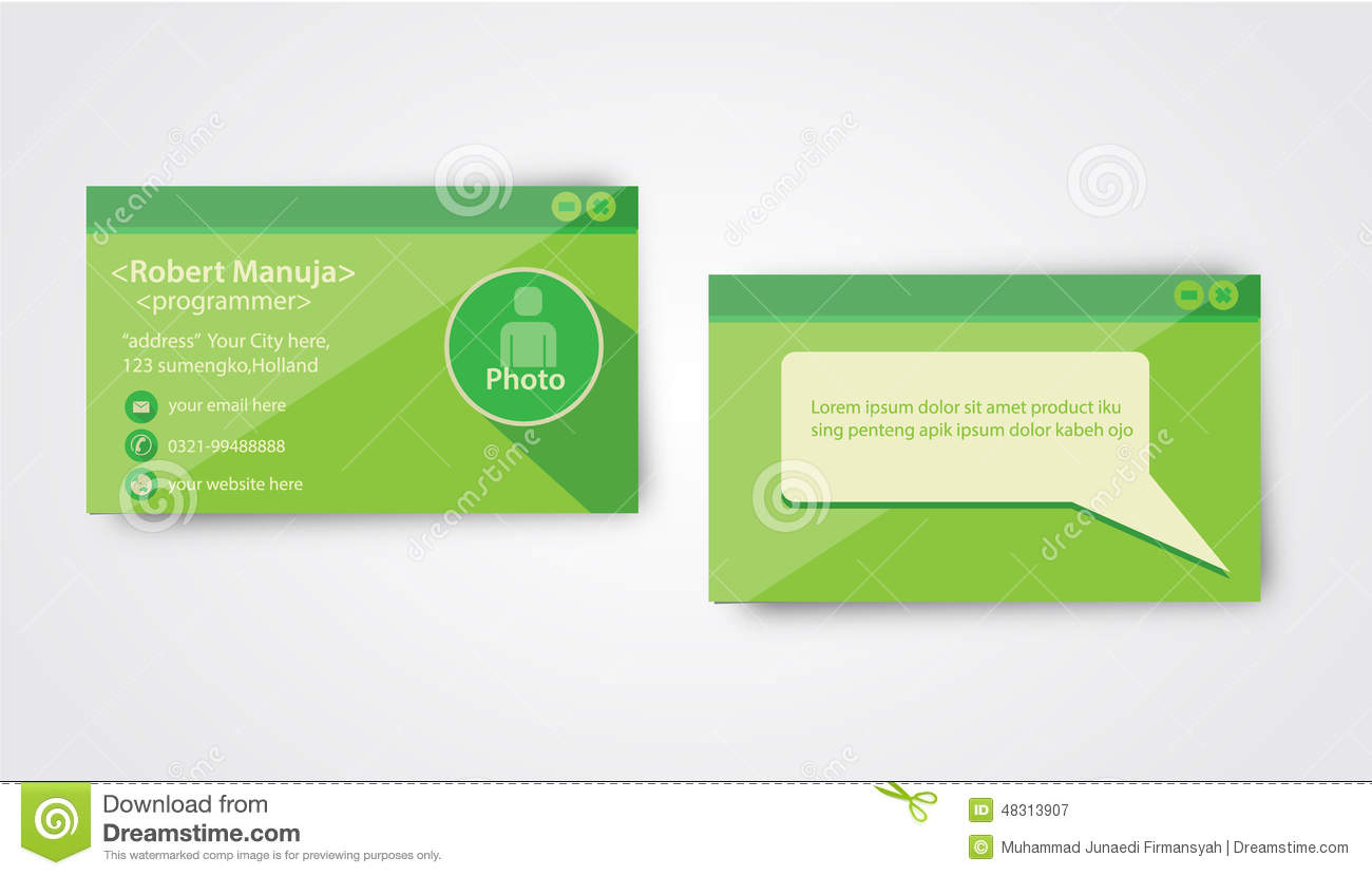 Programmer business card template stock illustration illustration programmer business card template alramifo Images