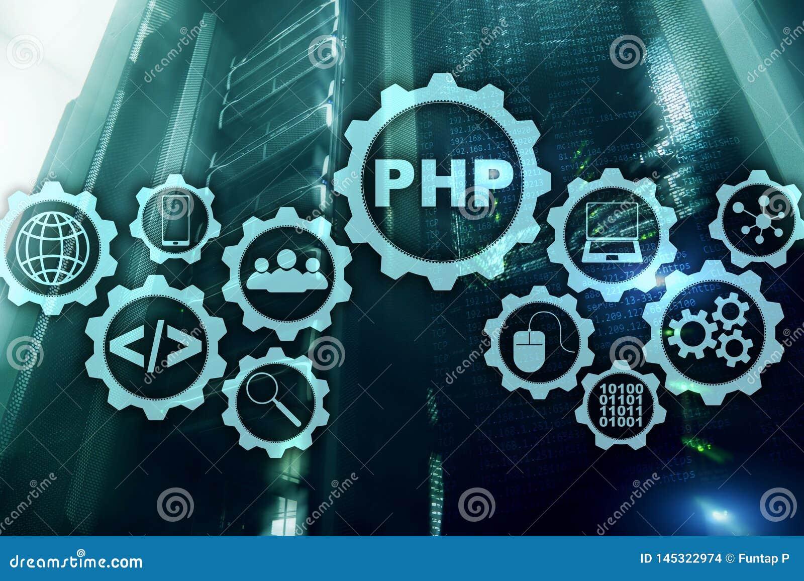 Programmera spr?k f?r PHP Framkallande programmera och kodifiera teknologier Cyberutrymmebegrepp