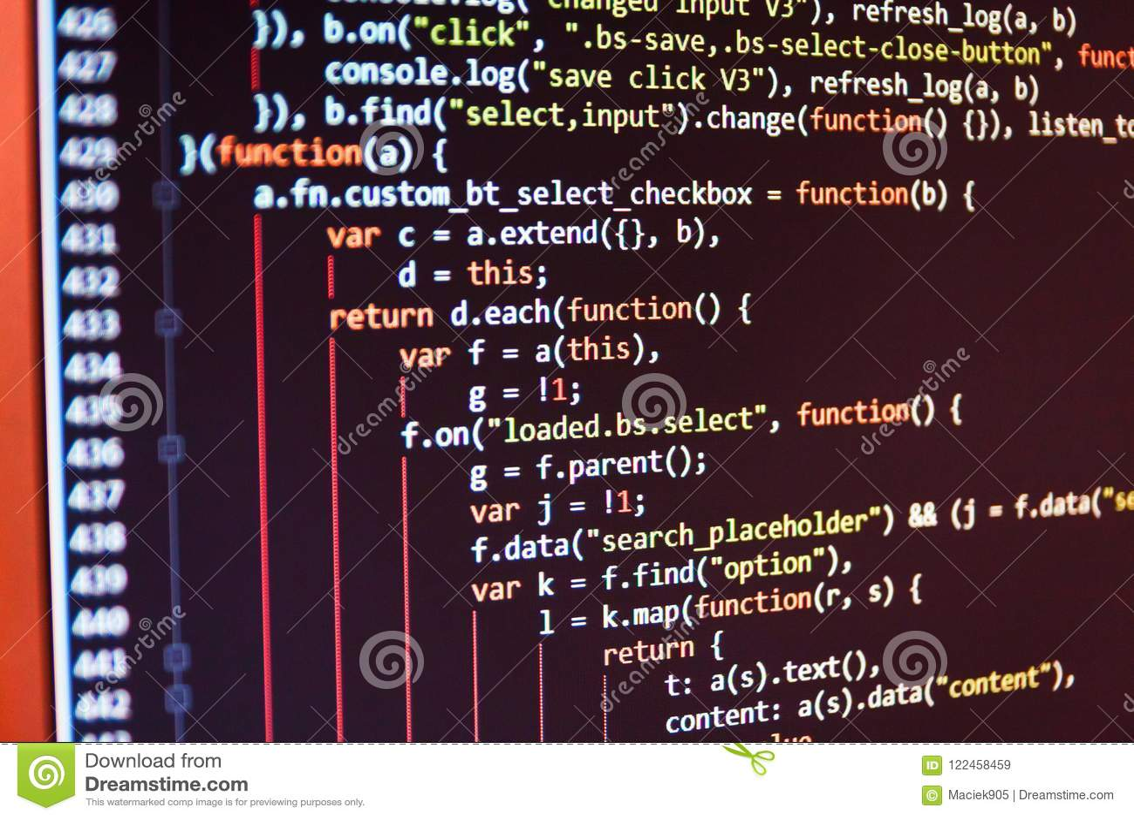 Programmeur Developer Screen
