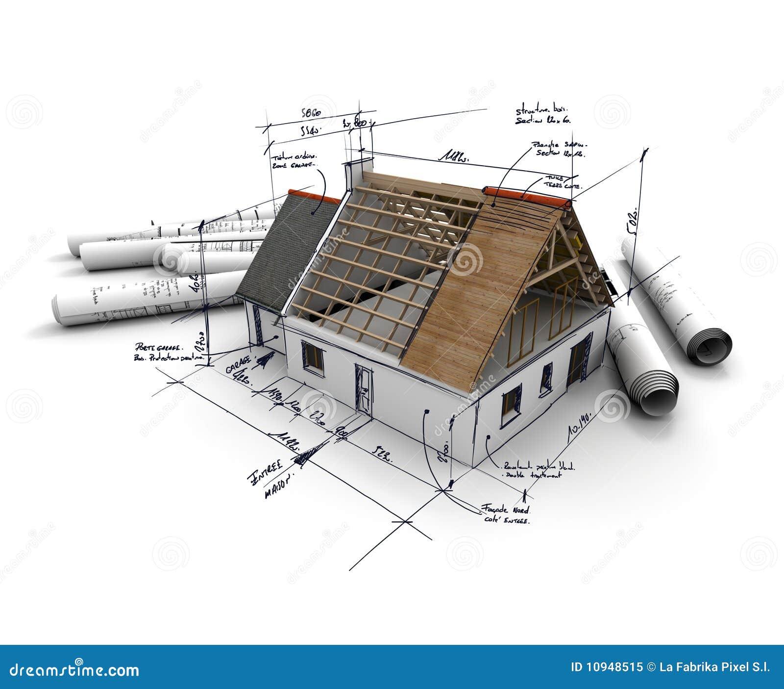 Programmi di costruzione di alloggi illustrazione di stock for Programmi architettura 3d