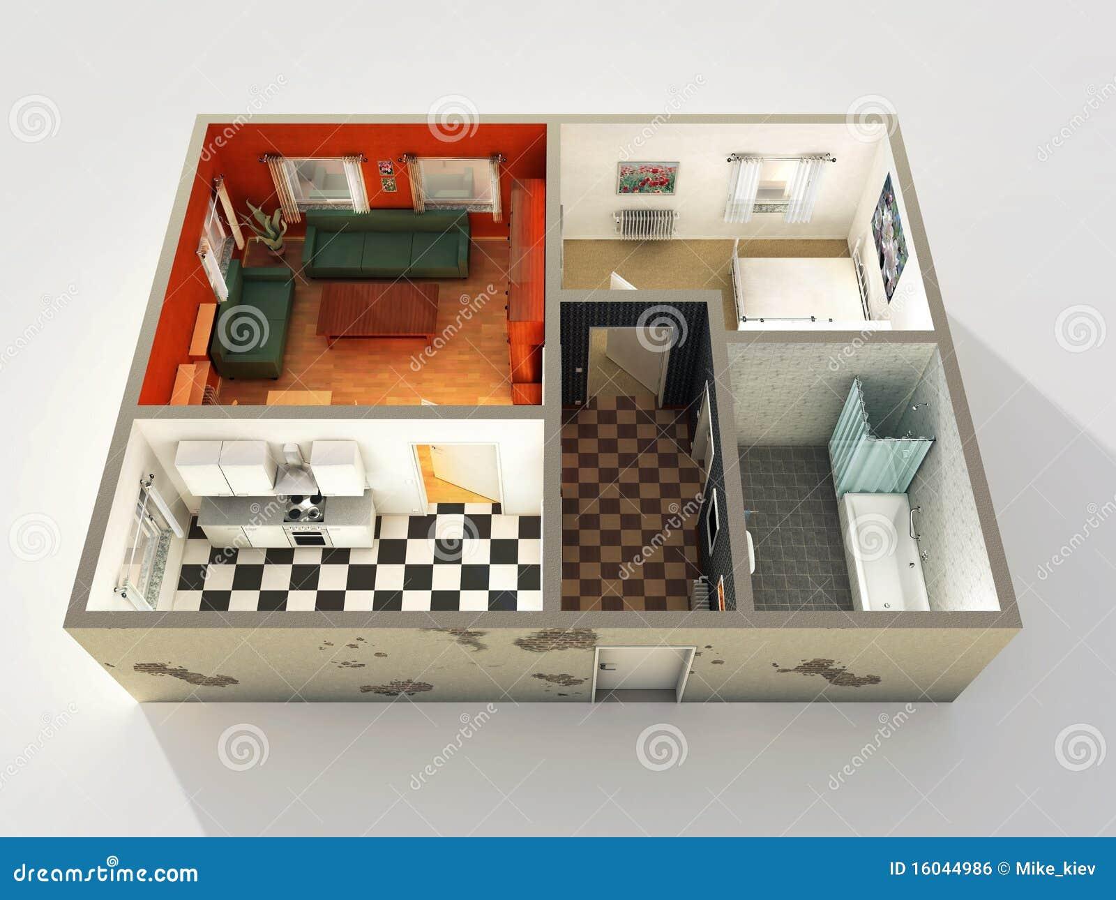 Programmi di costruzione di alloggi 3d fotografia stock for Programmi architettura 3d