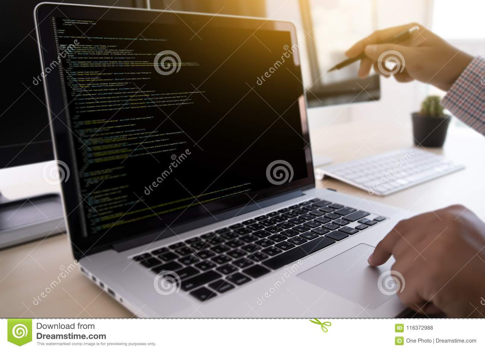 Programmiererarbeitendes sich entwickelndes Programmierungstechnologien Netz Desig