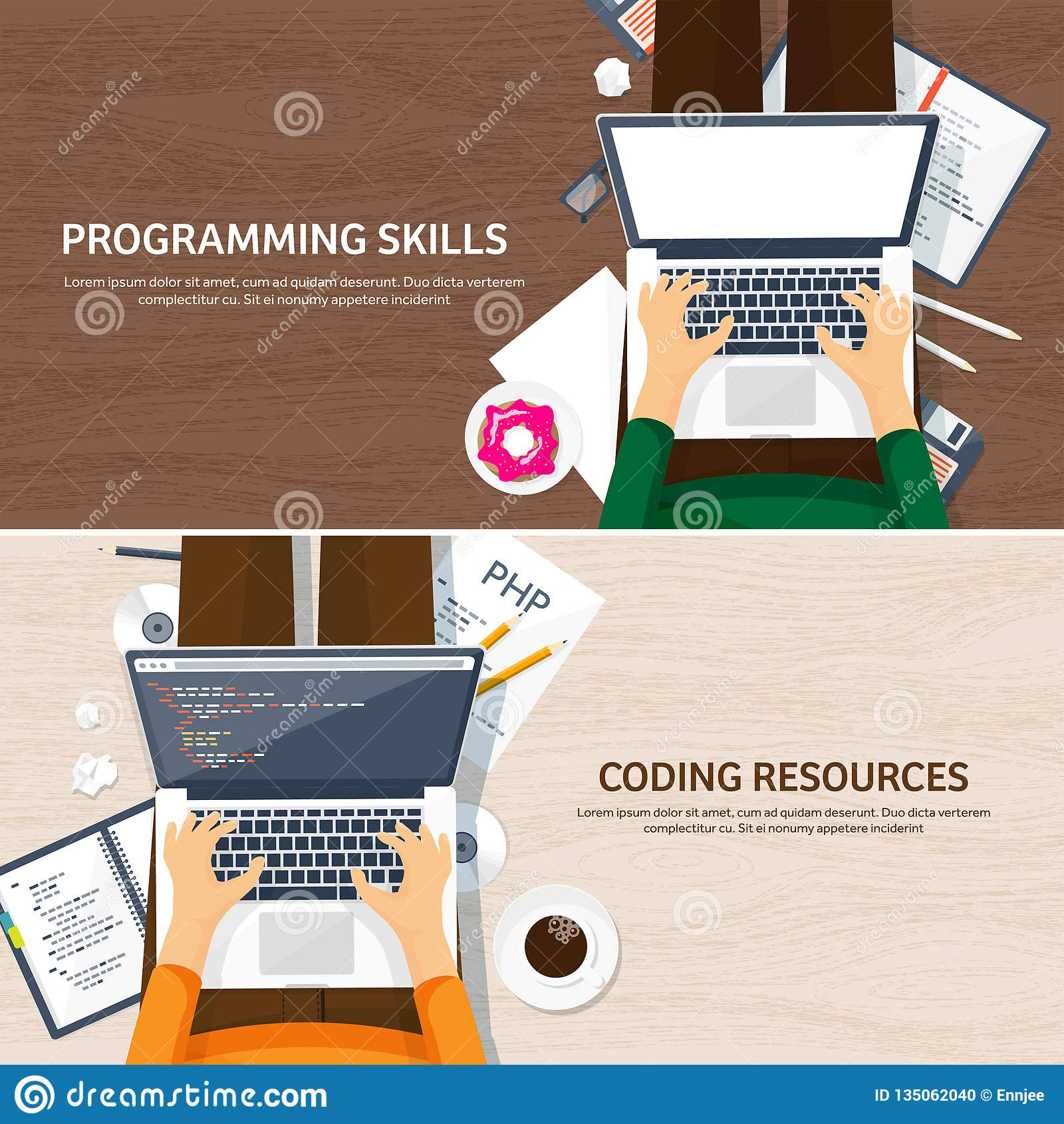 Programming,coding. Flat computing background. Code, hardware,software. Web development. Search engine optimization