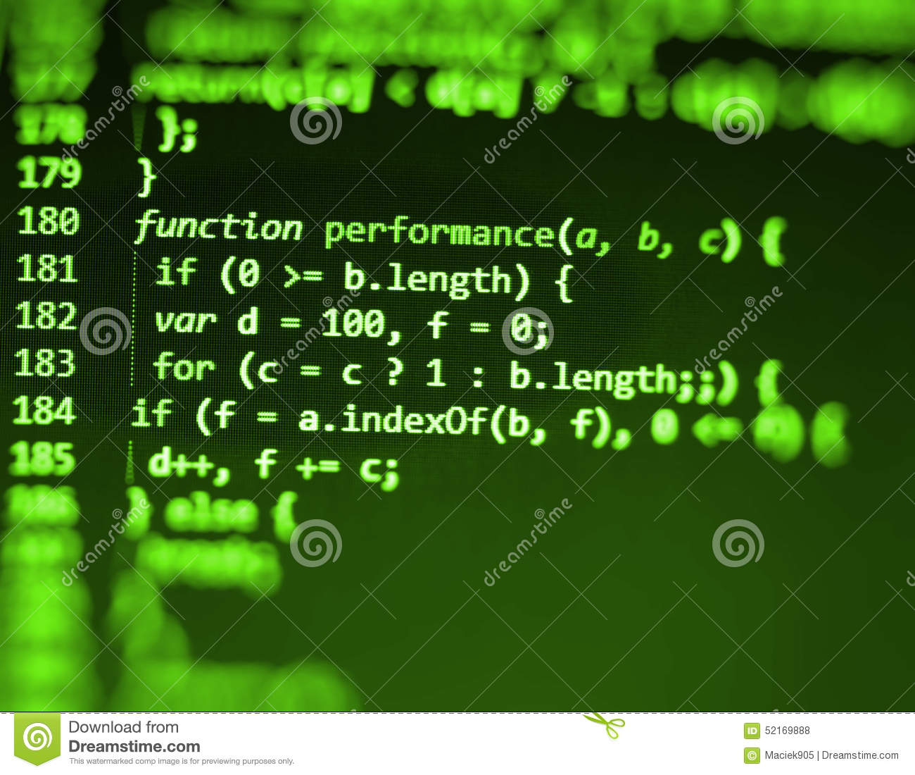 Programming Coding Source Code Screen. Stock Photography ...