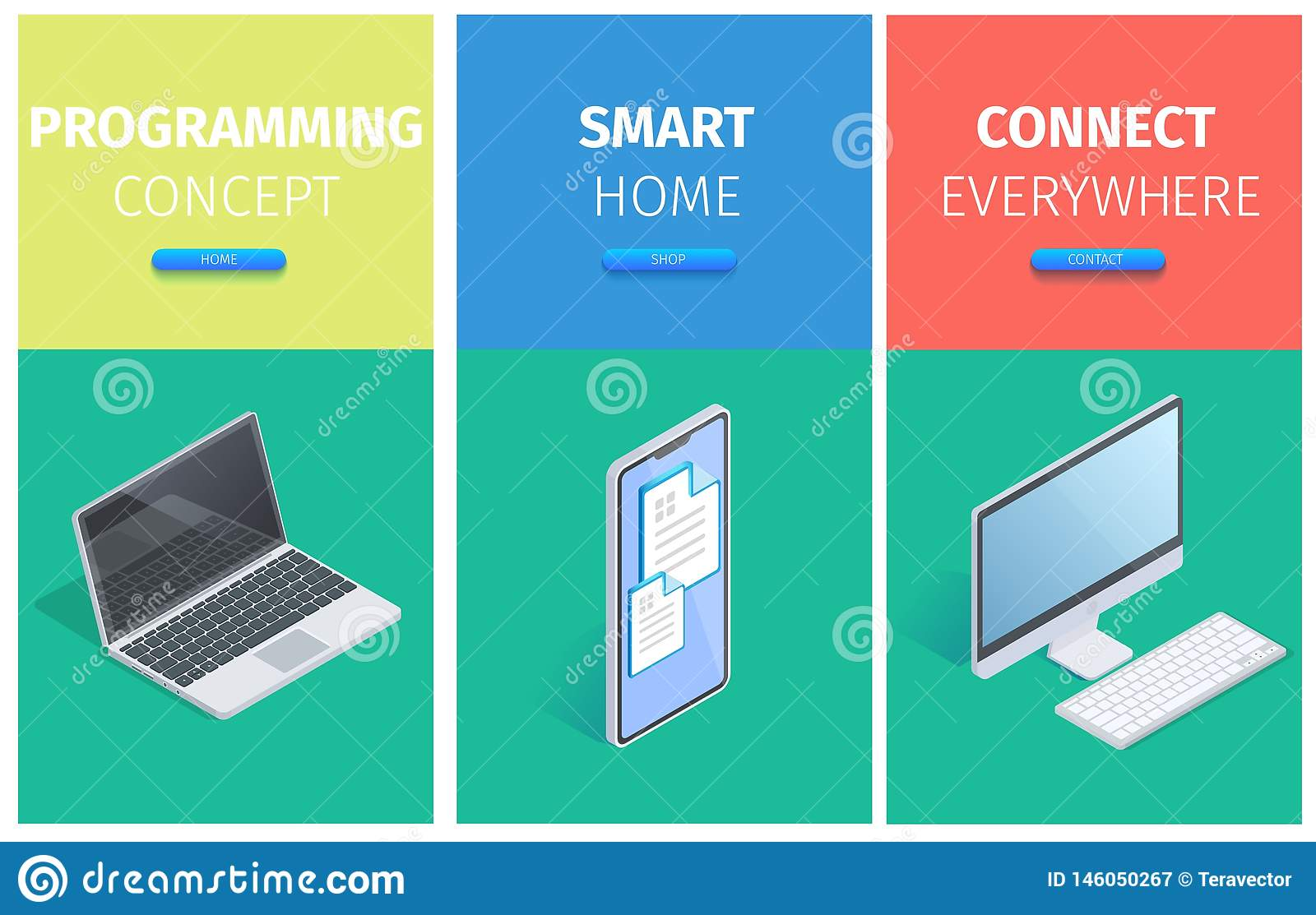 Programming Concept, Smart Home, Connect Banners