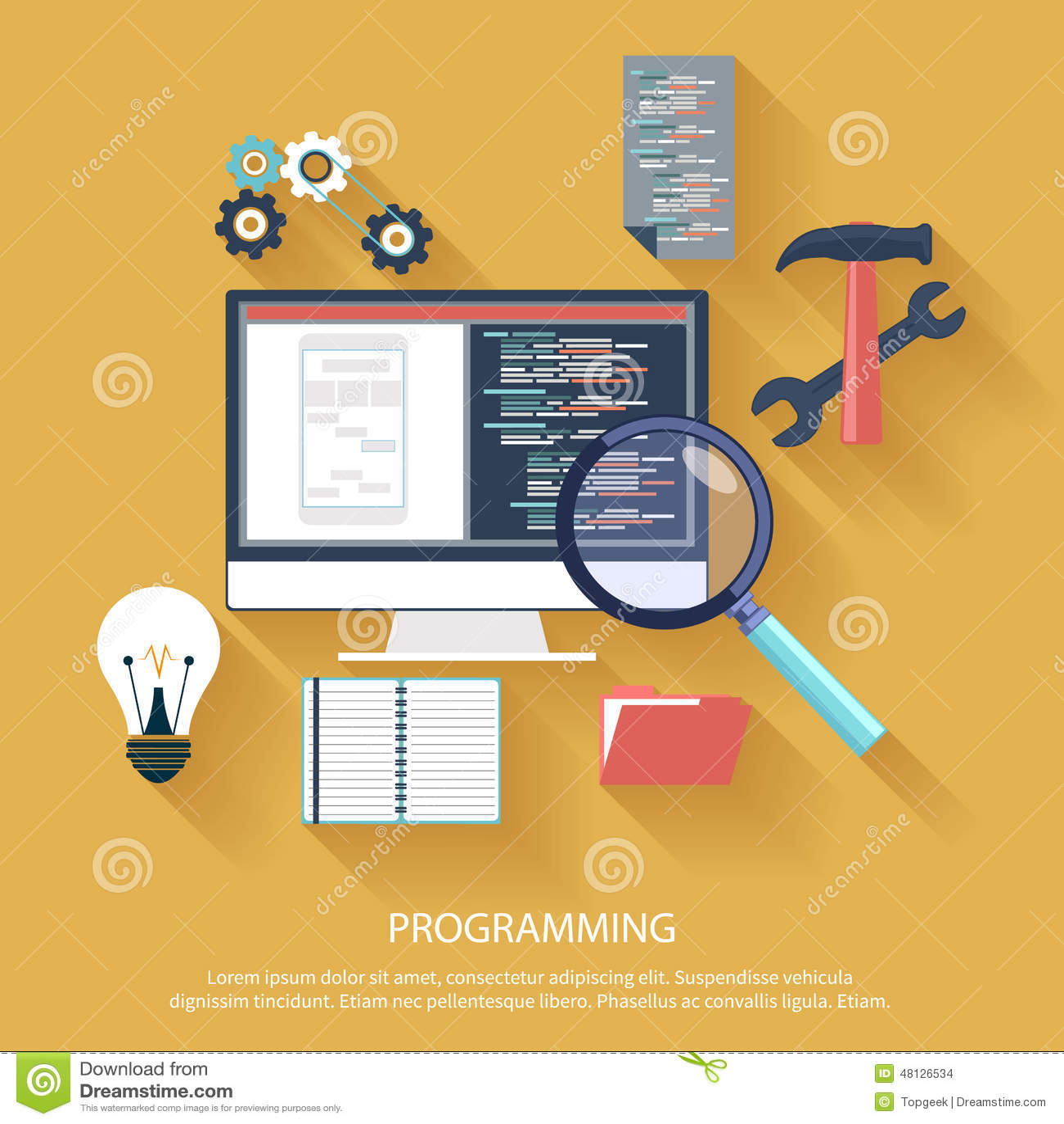 Programming Concept Stock Vector Image 48126534