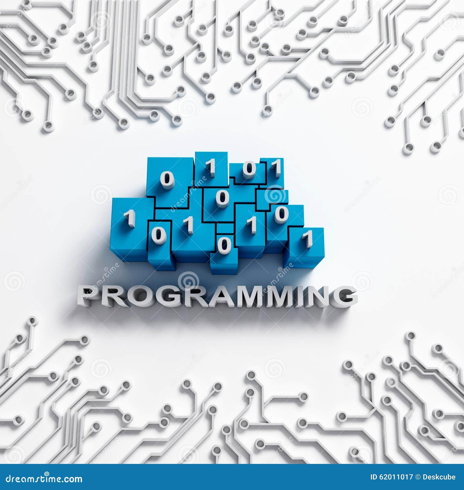 Programming Illustration With Circuits Stock Illustration ...