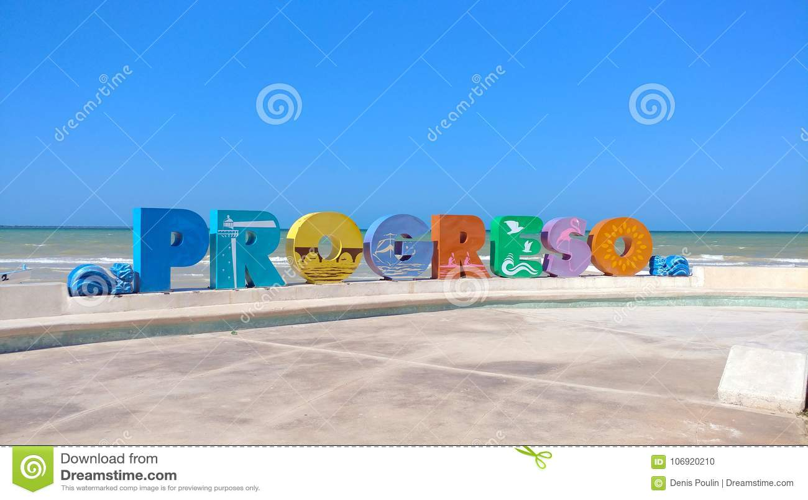 Progreso listów znak, Progreso, Meksyk