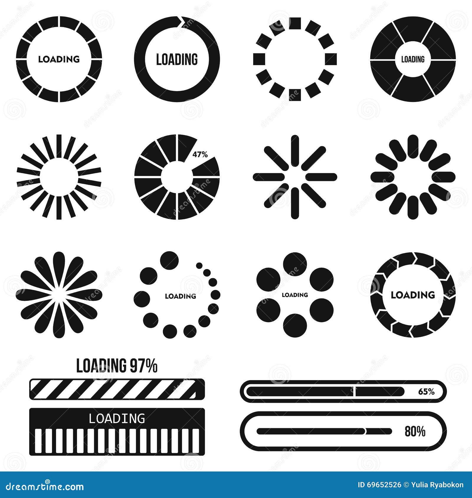 progress bar icons  stock photo