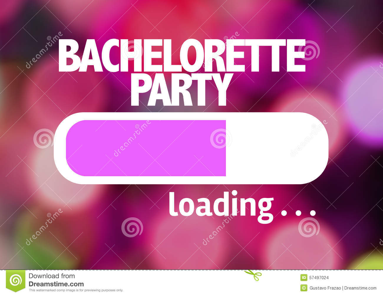 Progress Bar Loading With The Text Bachelorette Party