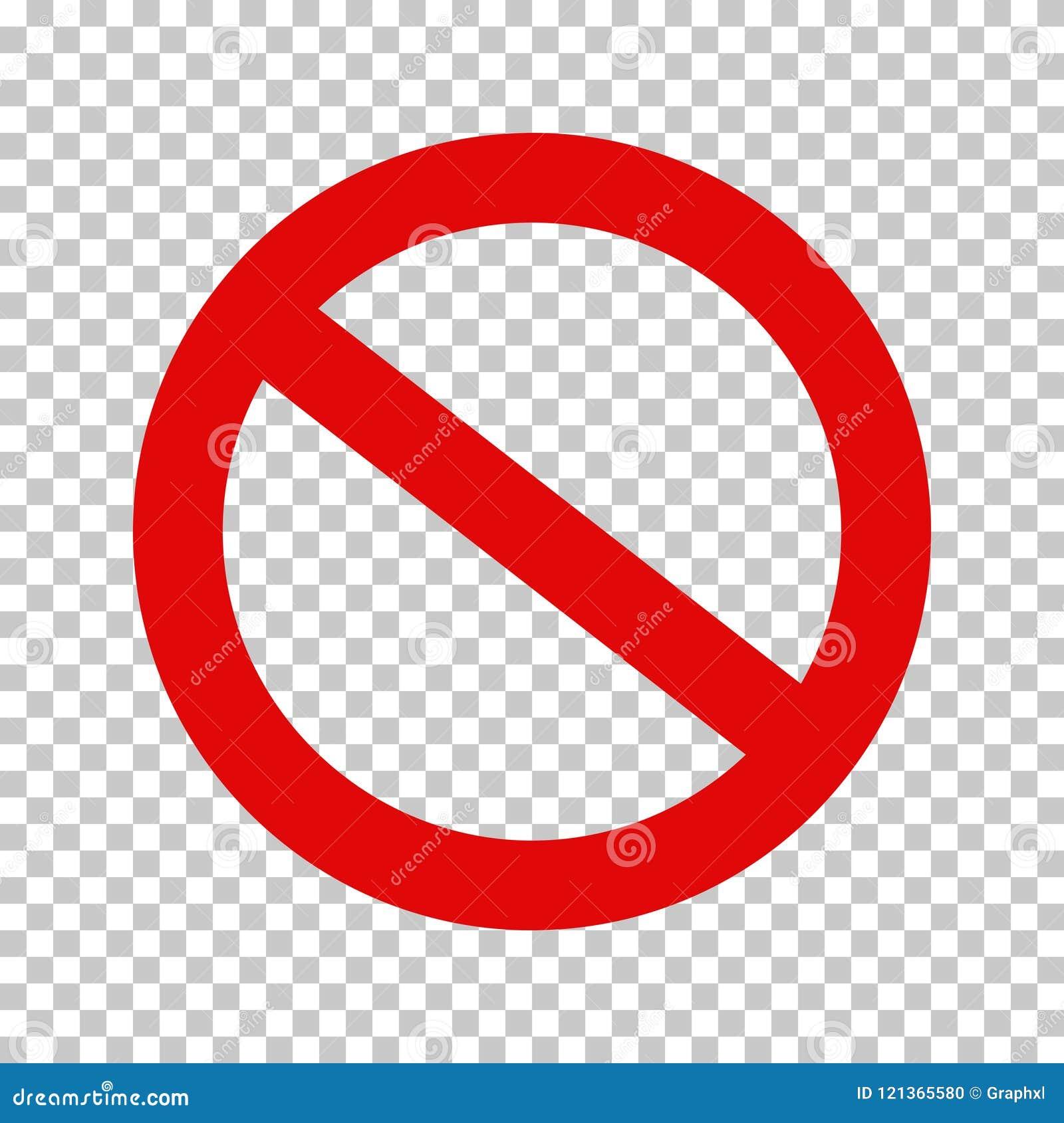 Prohibicja znak, Żadny symbol; Krzyżujący out Okrąża