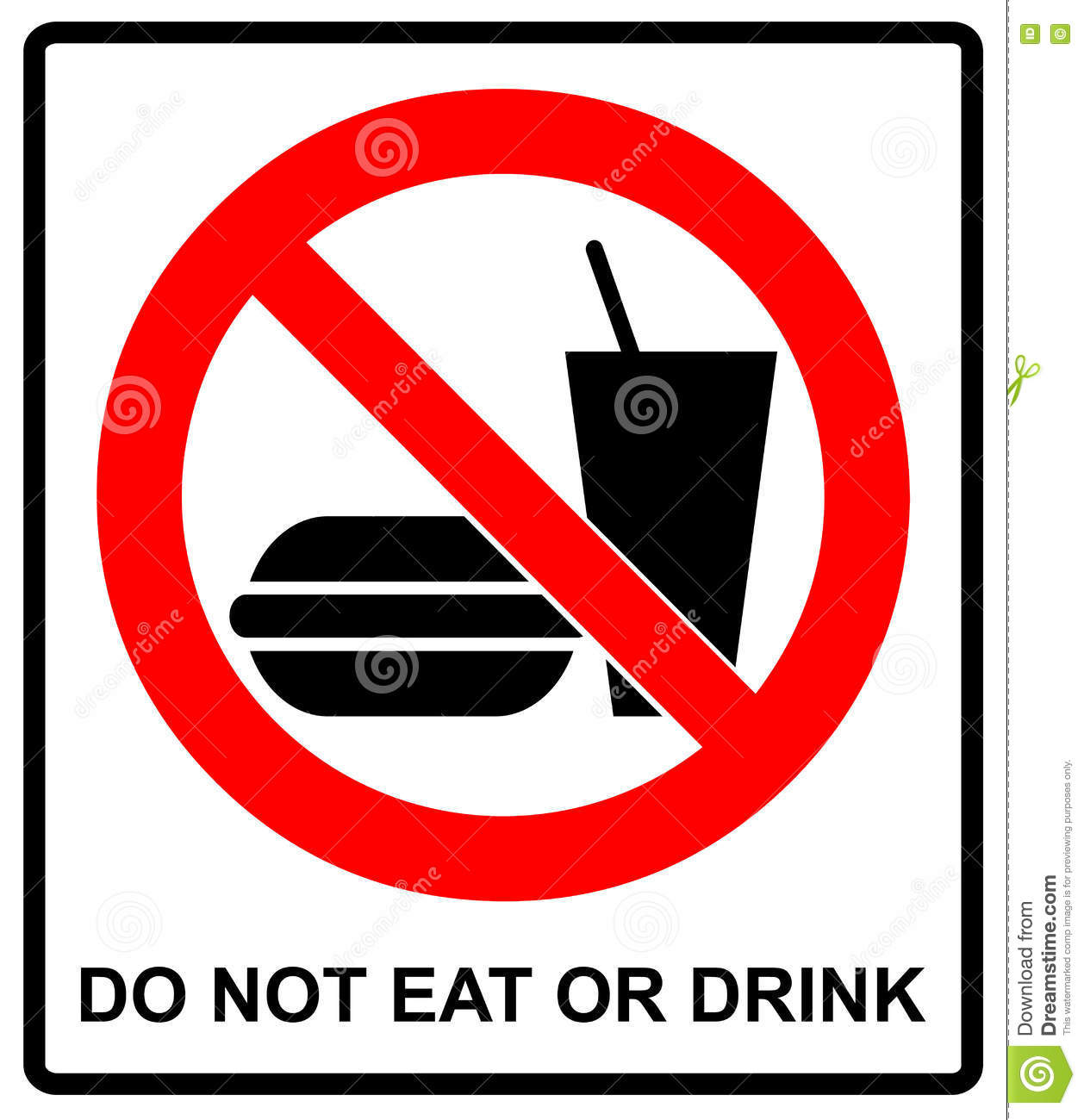 signs eating drinking places prohibition symbol prohibited general illustration smoking vector sticker clipart pictogram preview