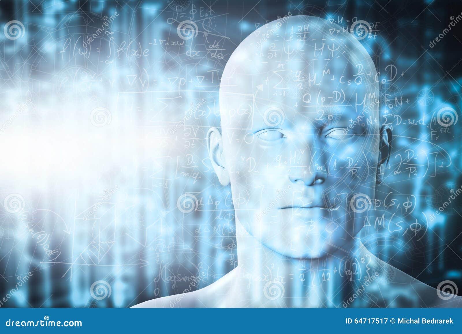 Proiezione di realtà virtuale Scienza futura con tecnologia moderna, intelligenza artificiale