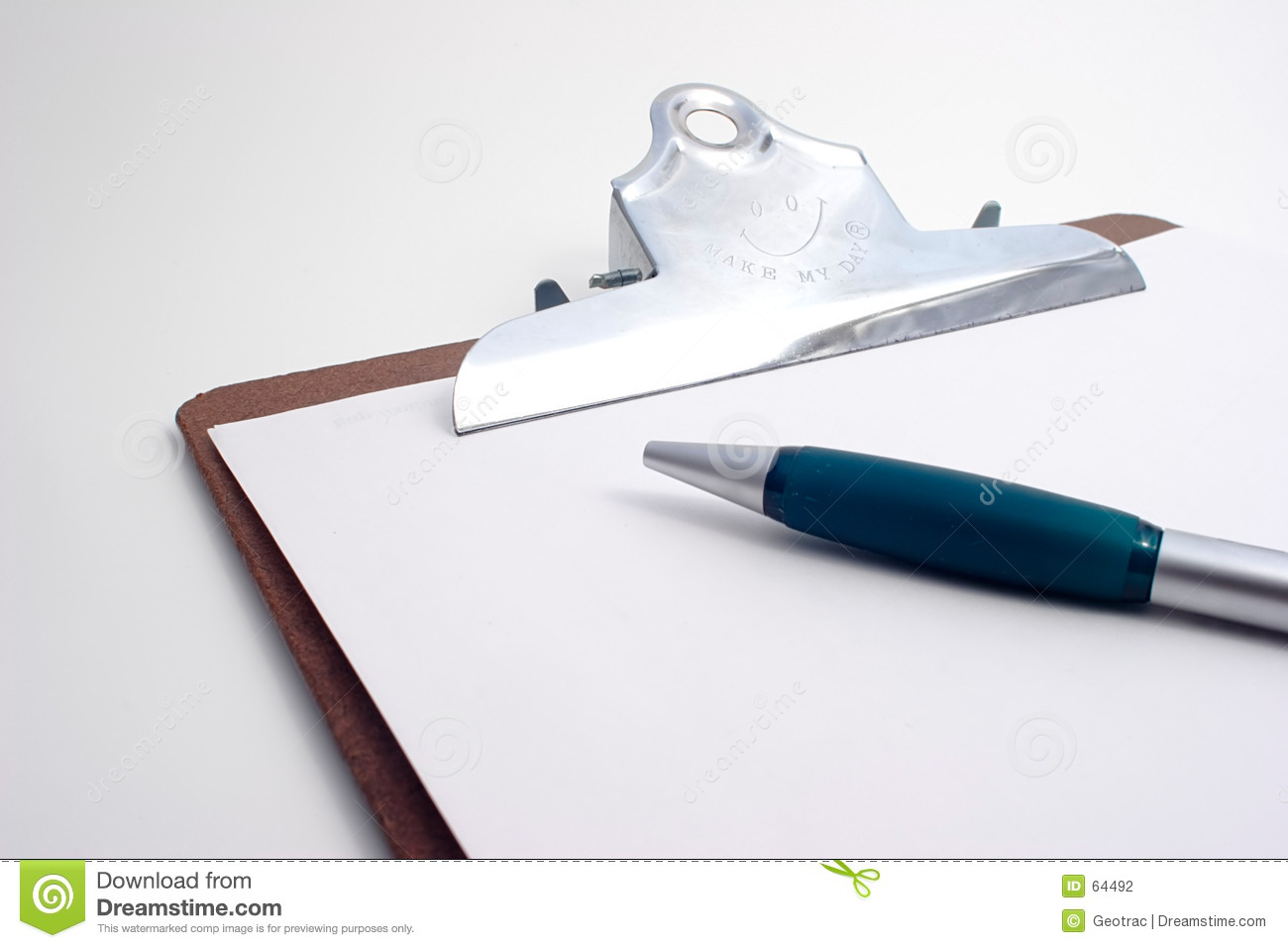 Project Clipboard with pen