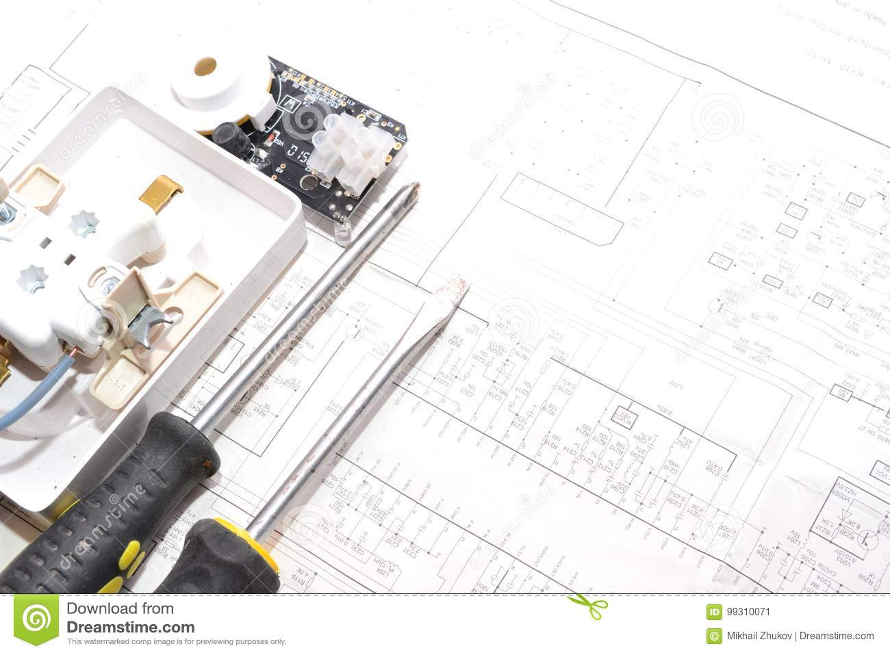 Electrical Wiring Projects Diagram Symbols Kawasaki Apartment Project Of The Stock Image On