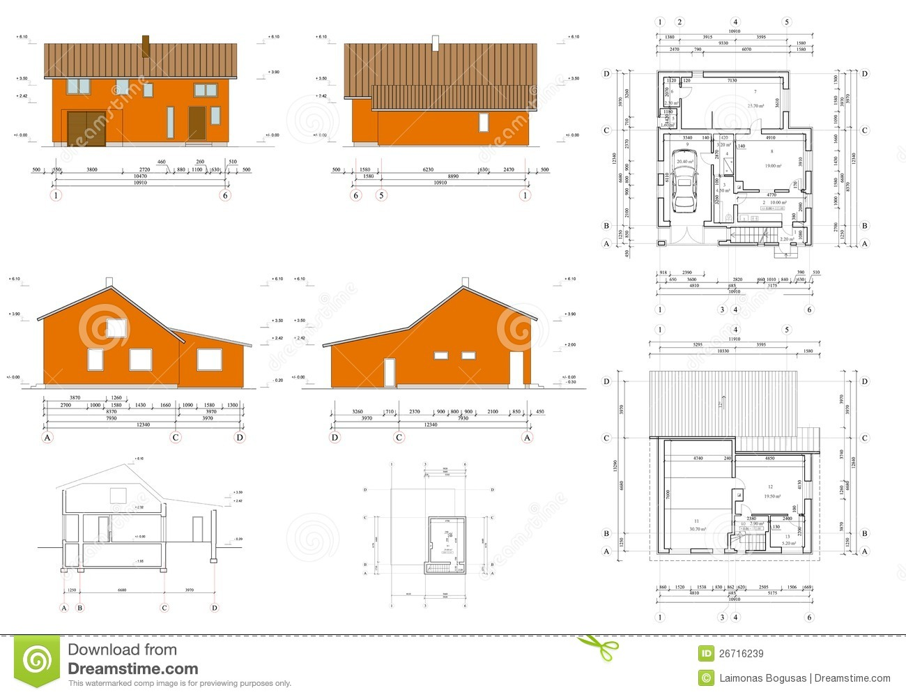 Project of the living house royalty free stock images for House project online
