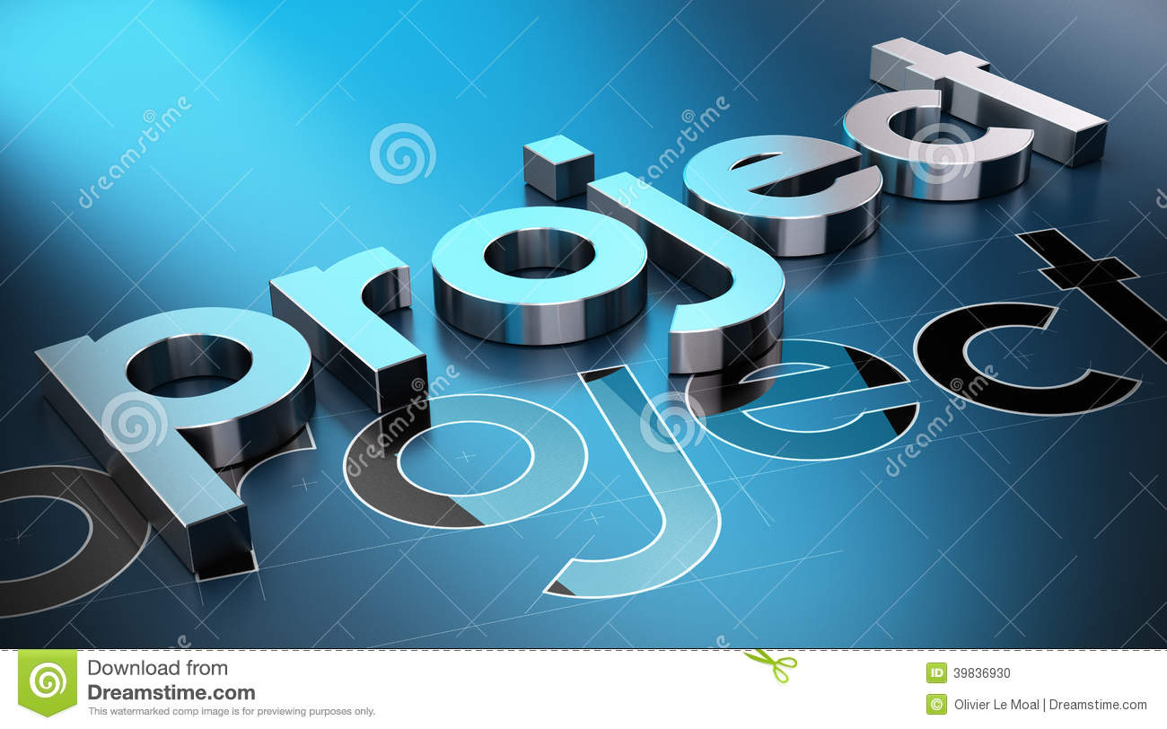 Project management concept stock illustration image for 3 dimensional drawing software