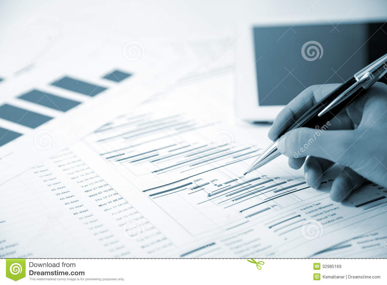 Project Management Stock Image Image Of Hand Instrument 32985169
