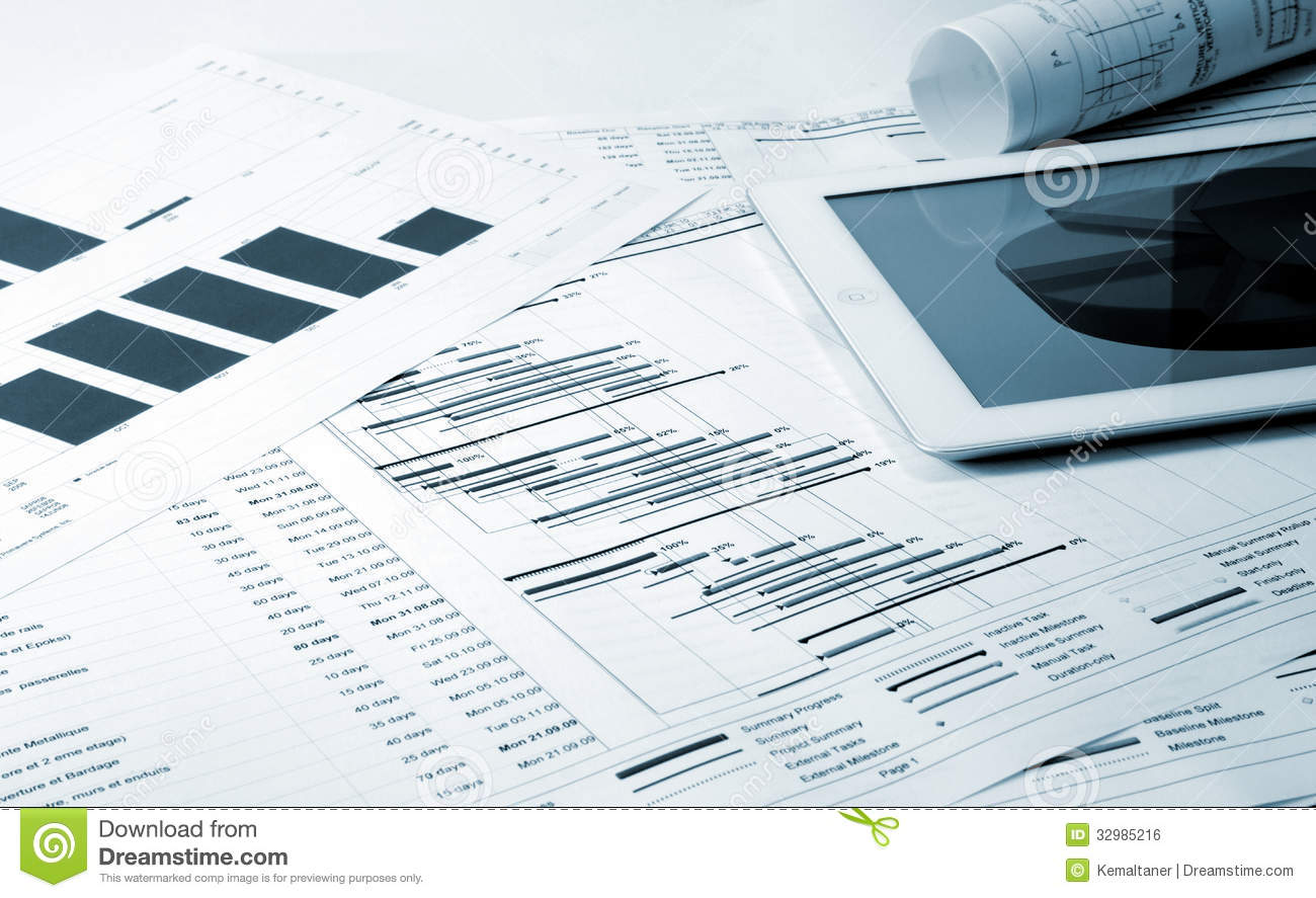 Project Management Stock Photo Image Of Gantt Industry 32985216