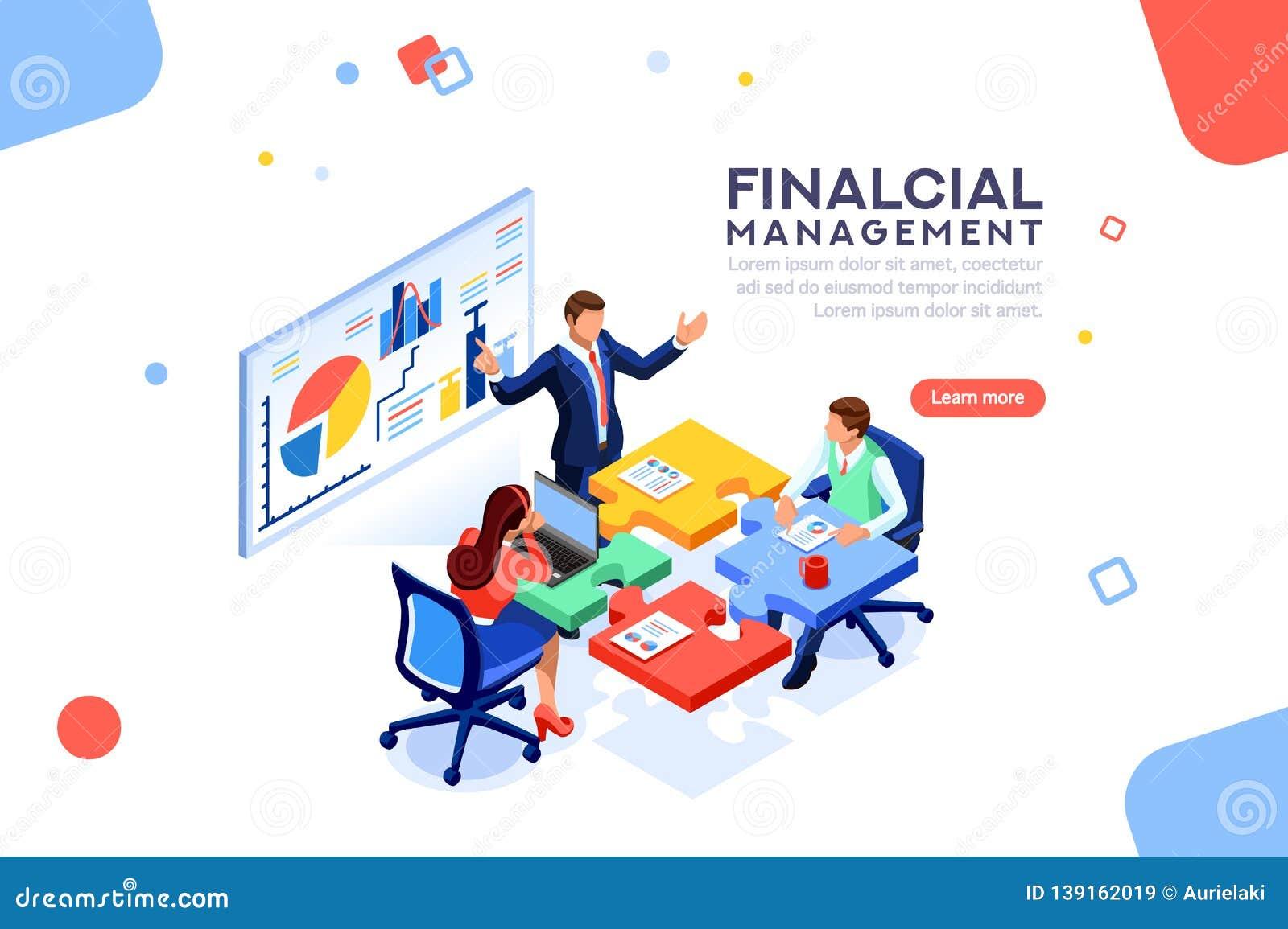 Project Management Financial Report Concept Vector