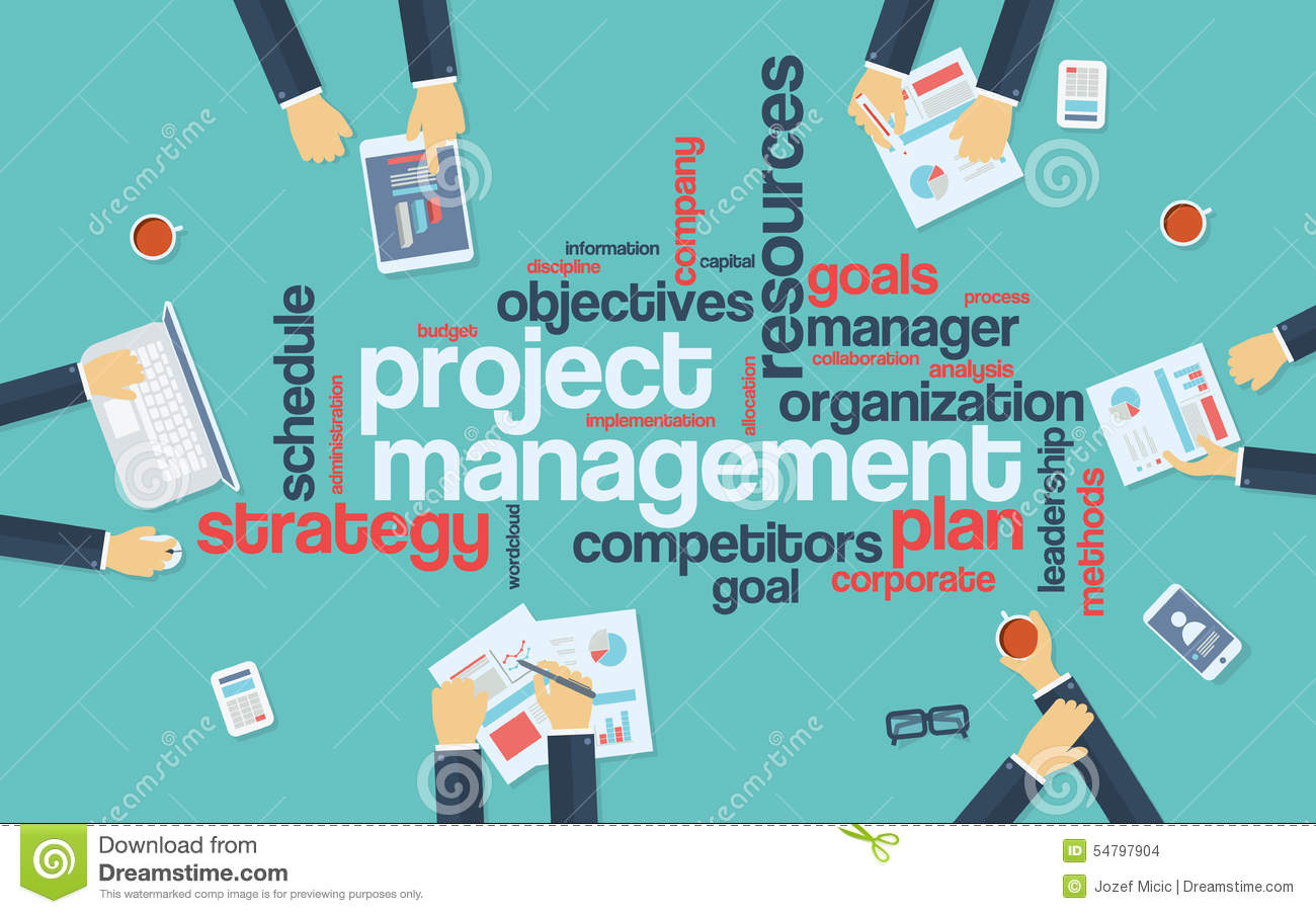 Project Management Infographics Poster With Stock Vector ...