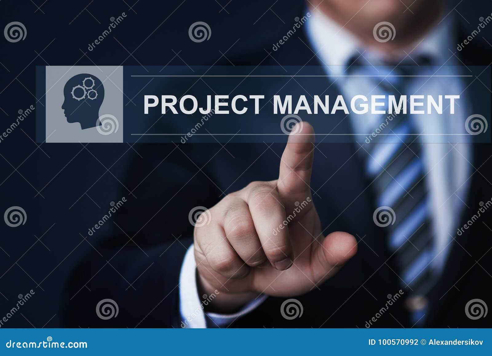 Project Management Strategy Plan Internet Business Technology Concept