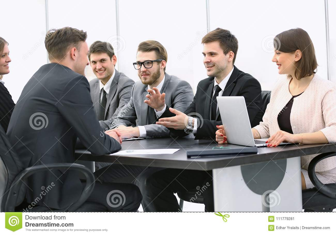 Businessman conducting a workshop with business team