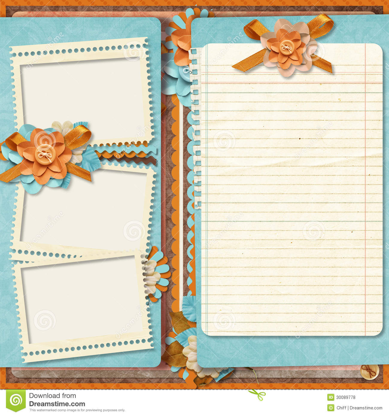Retro family album365 project scrapbooking templates stock retro family album365 project scrapbooking templates maxwellsz