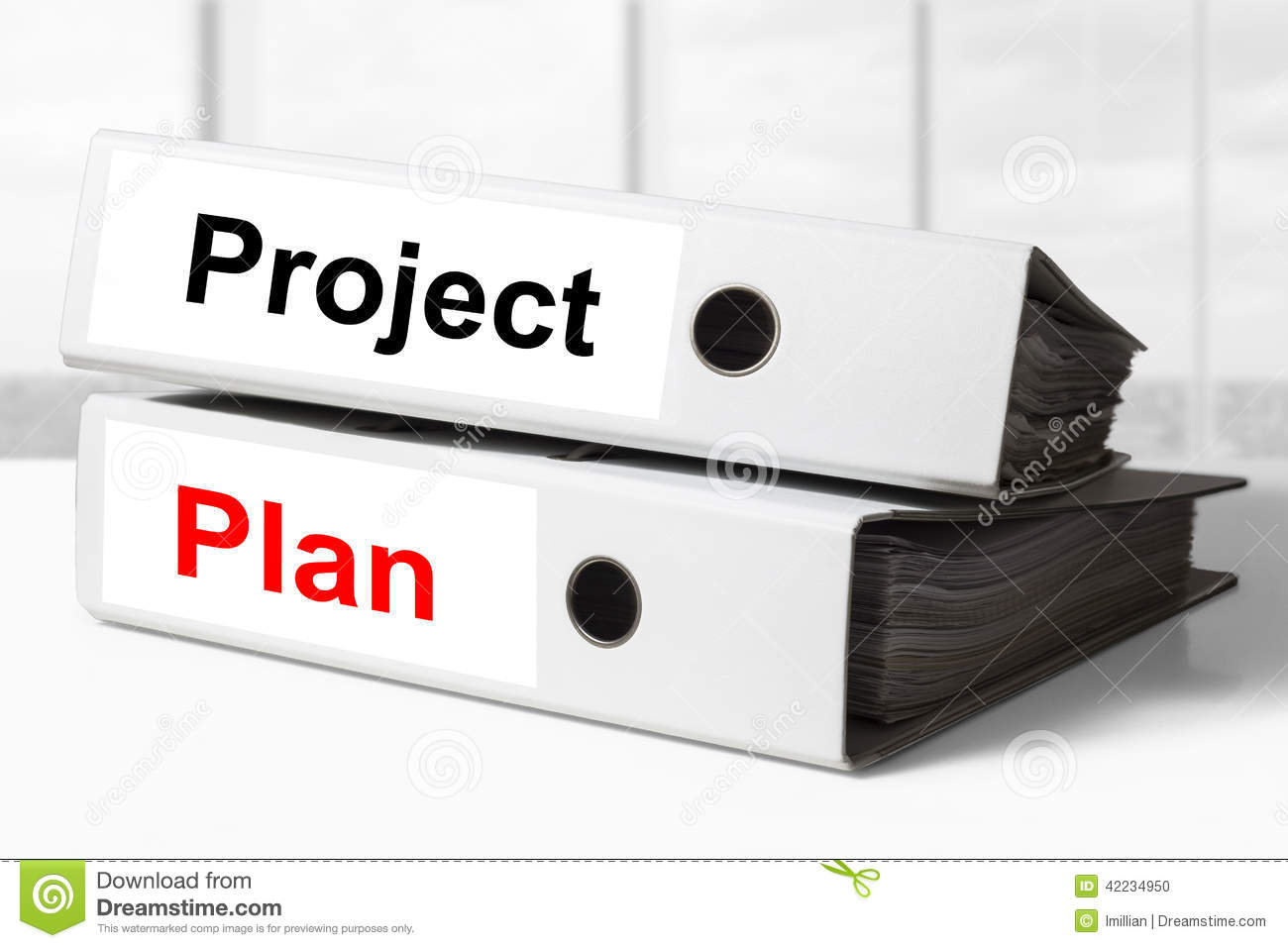 projectplan Project Plan Office Binders Stock Photo   Image of finance