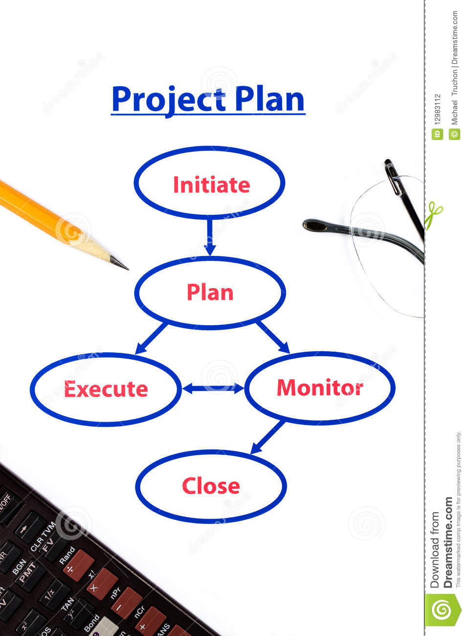 project plan process stock photography image 12983112 b define process flow chart i 9 process flow chart