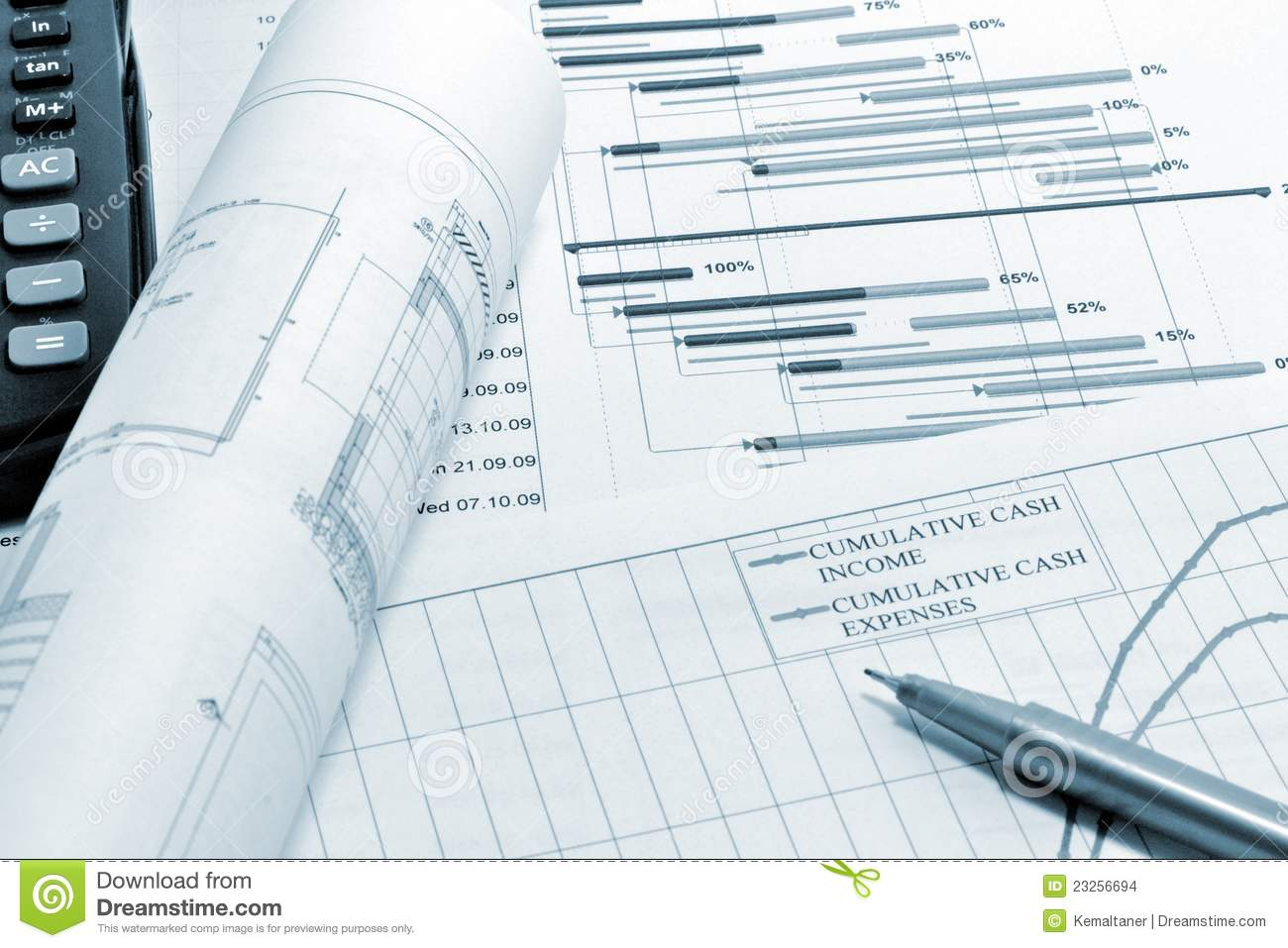 Project Planning Blueprint Stock Images Image 23256694