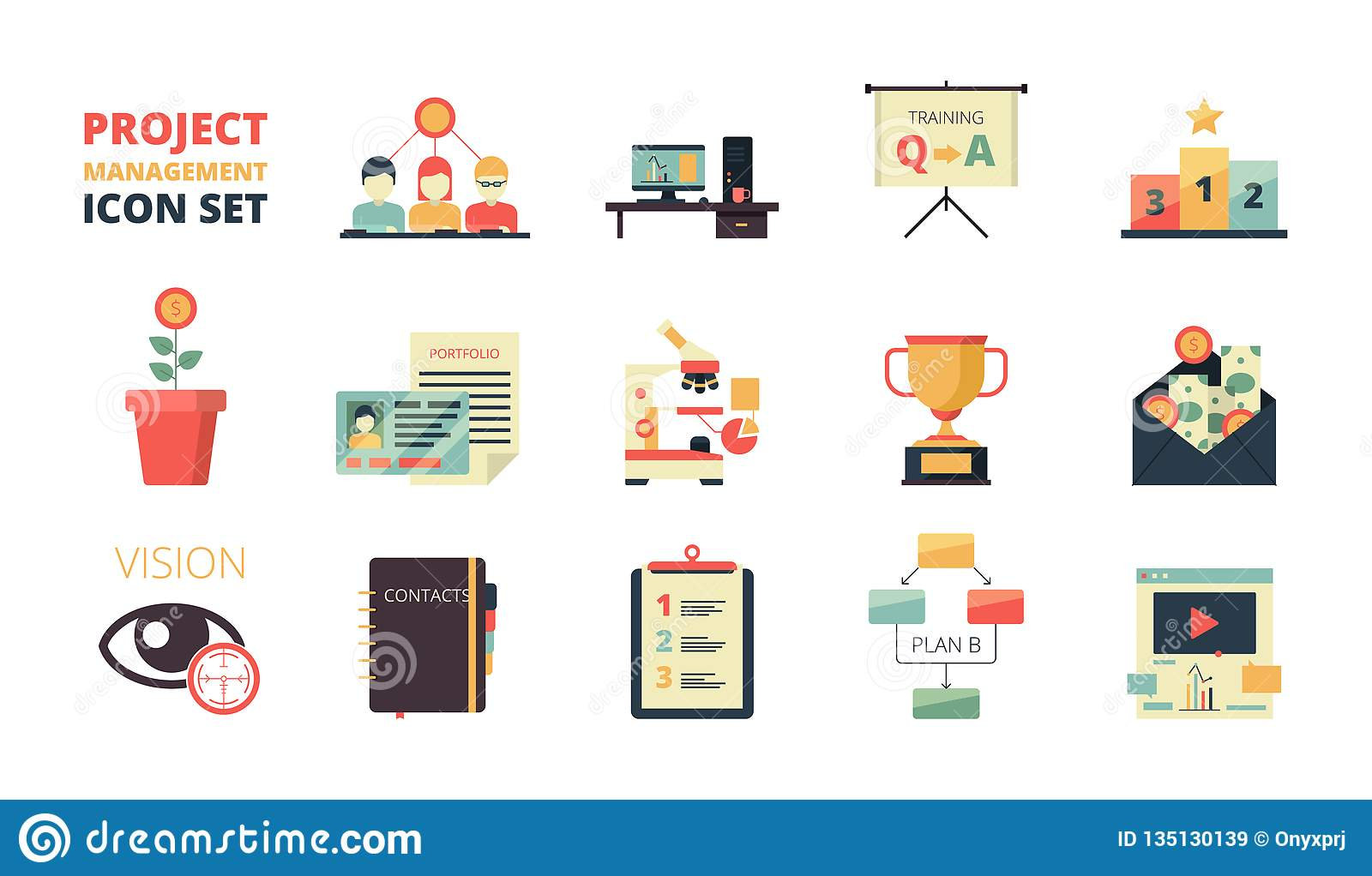 Project Planning Icon Business Strategy Management Processes Map Plan Development Dashboard Crm System Infographic Stock Vector Illustration Of Line Idea 135130139
