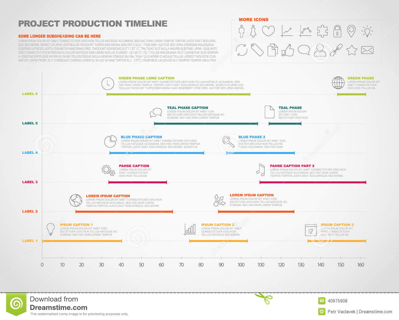 Project Production Timeline Graph Stock Vector - Image: 40975908