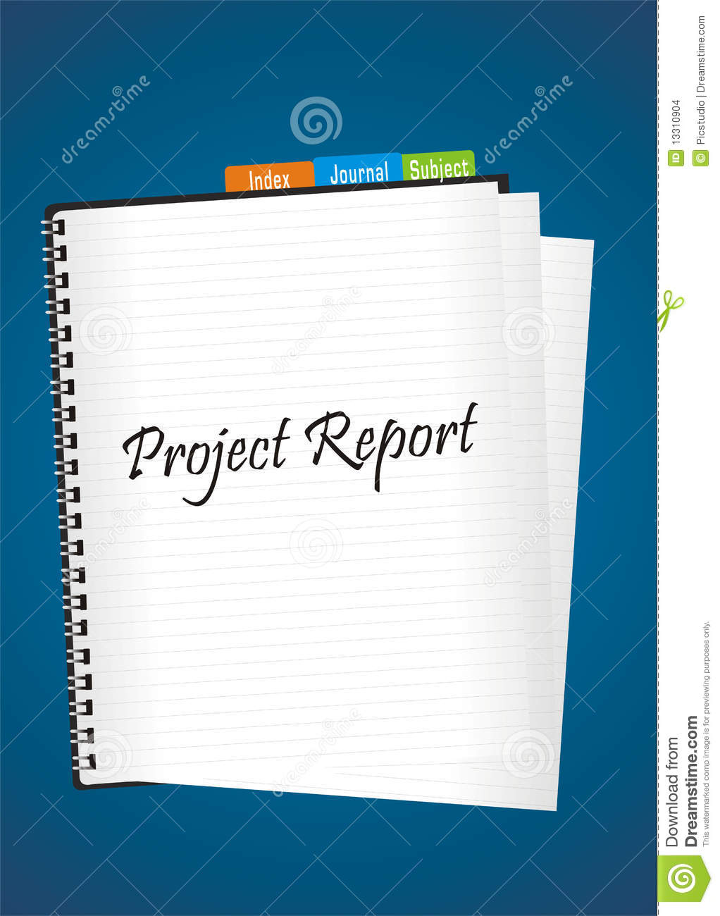 Project report stock illustration. Illustration of blue - 13310904