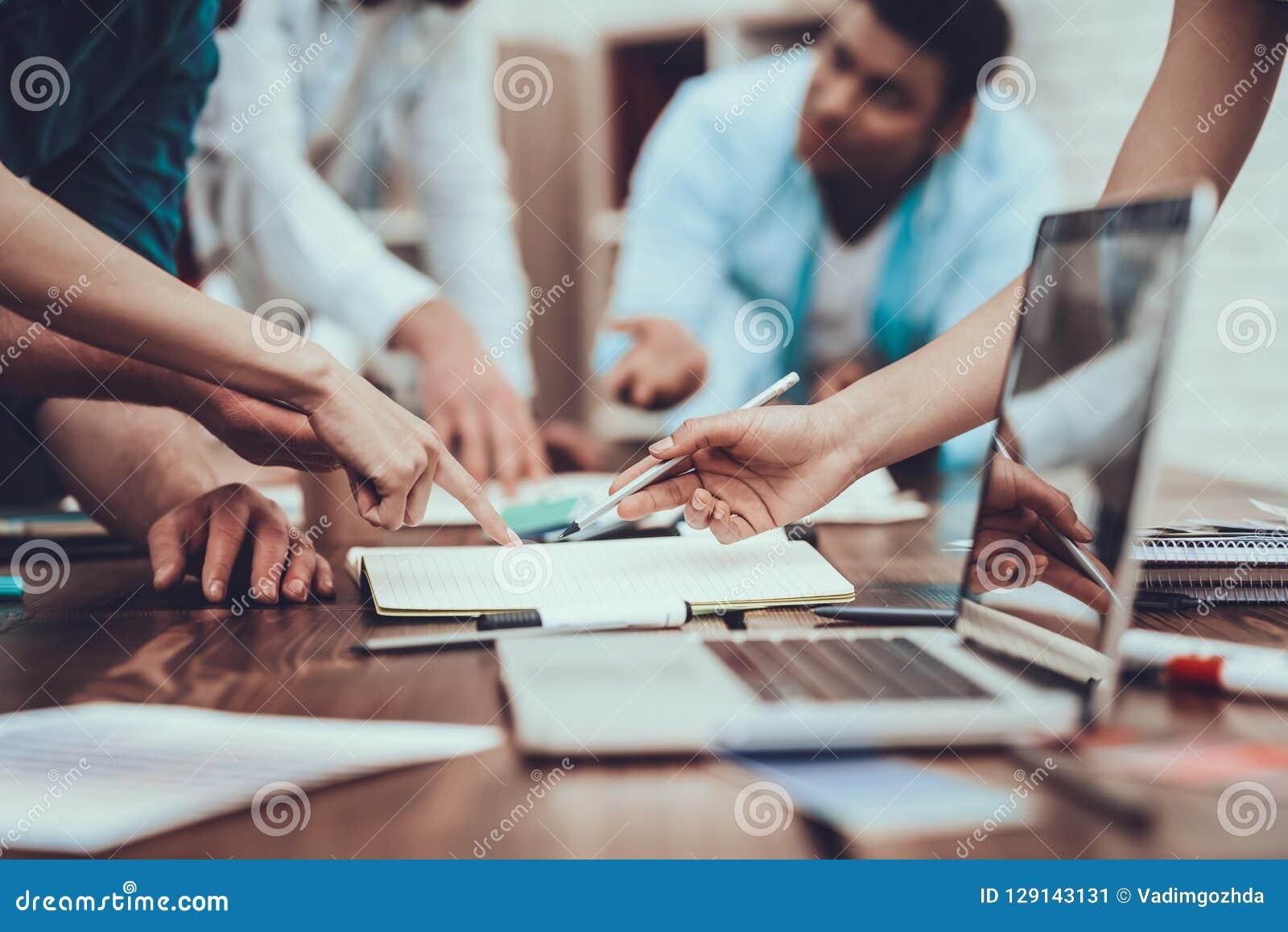Project. Teamwork. Computers. Laptop. Design.