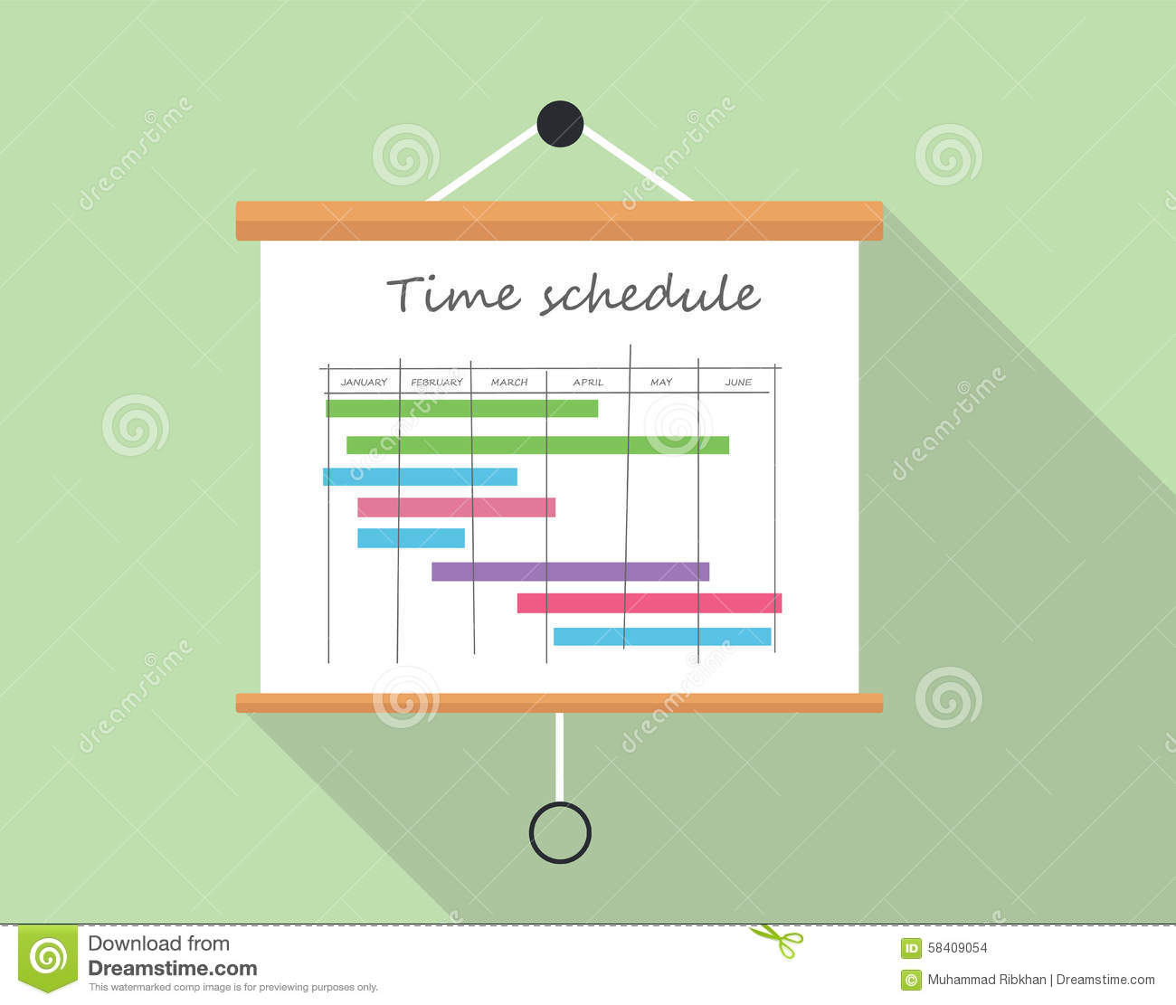 project time schedule stock vector illustration of presentation