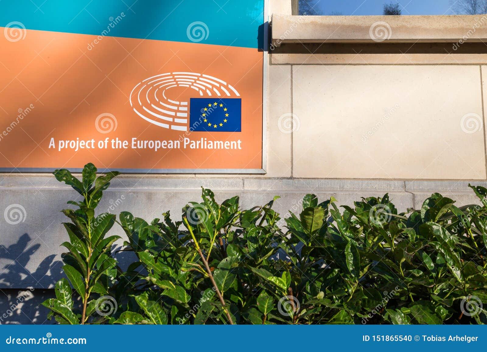 Project van het het Europees Parlement teken in Brussel België