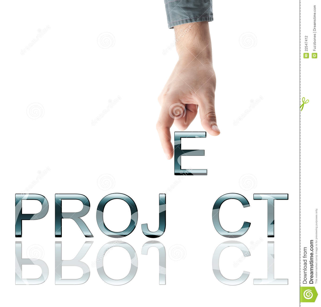 Hand And Word Project Royalty Free Stock Photography - Image: 14457277