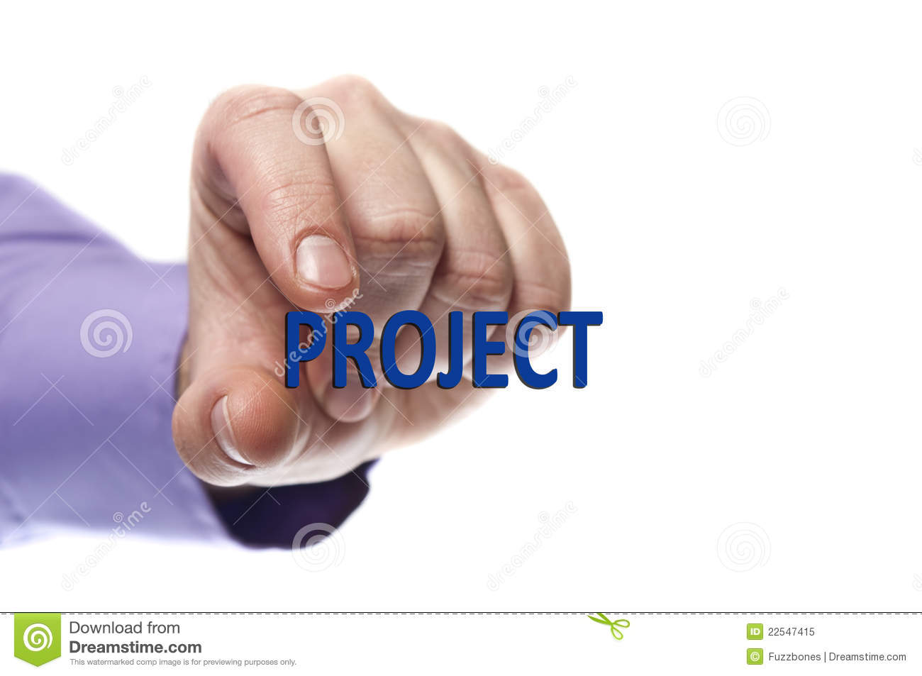 Hand And Word Project Stock Photo - Image: 50210153